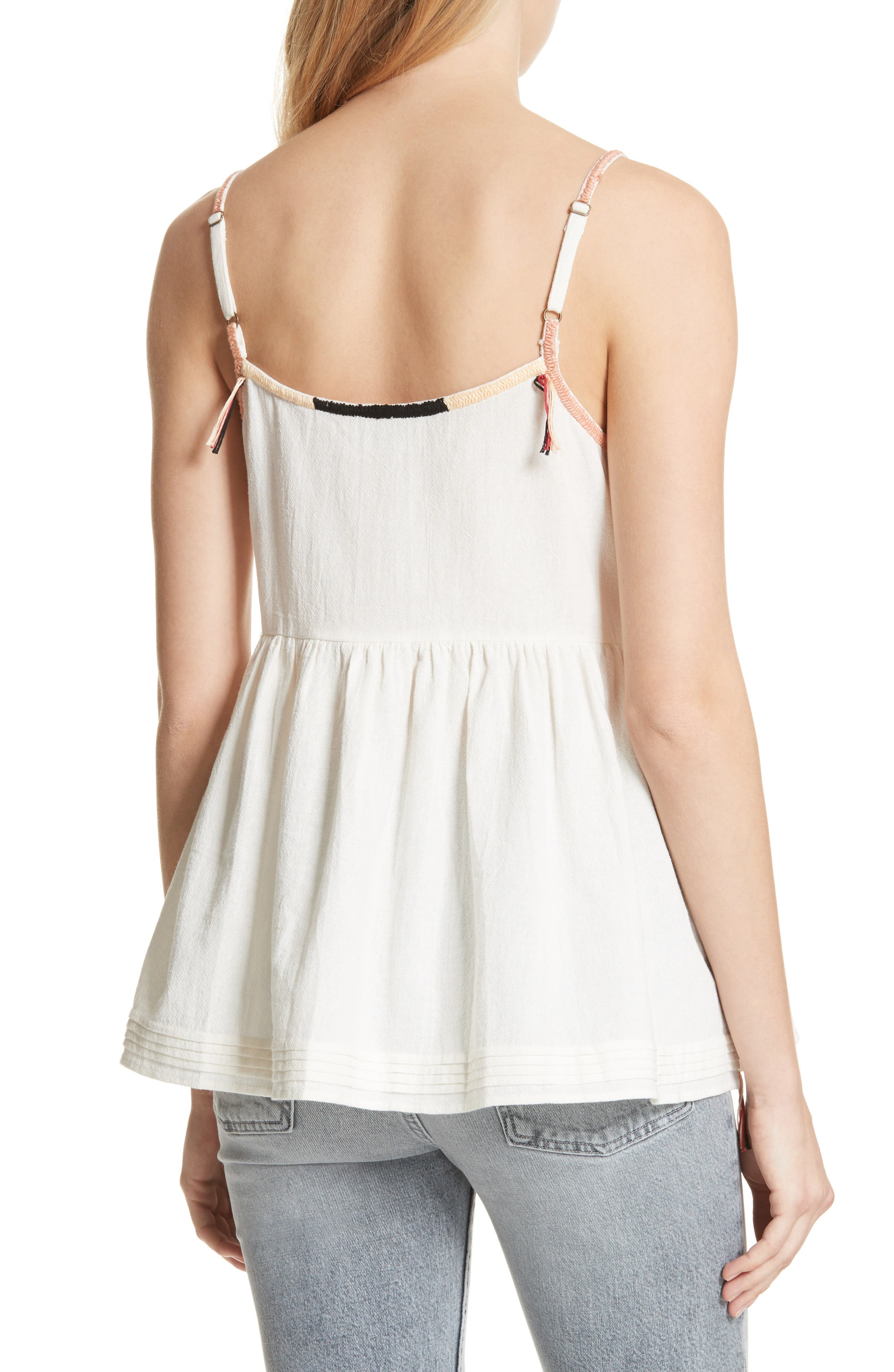 The Adobe Cotton Camisole,                             Alternate thumbnail 2, color,                             Off White