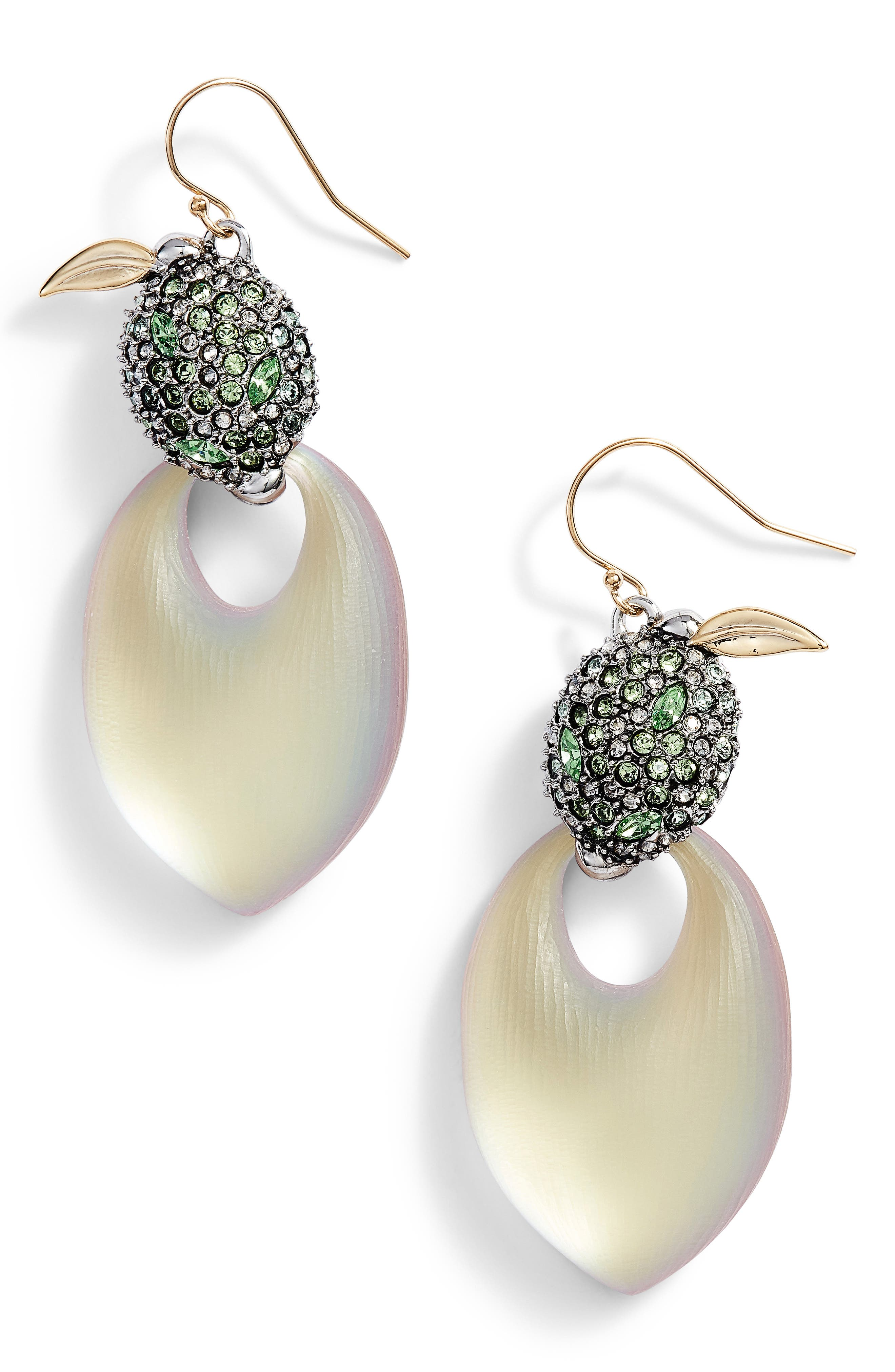 Lime Lucite<sup>®</sup> Earrings,                         Main,                         color, New Labradorite
