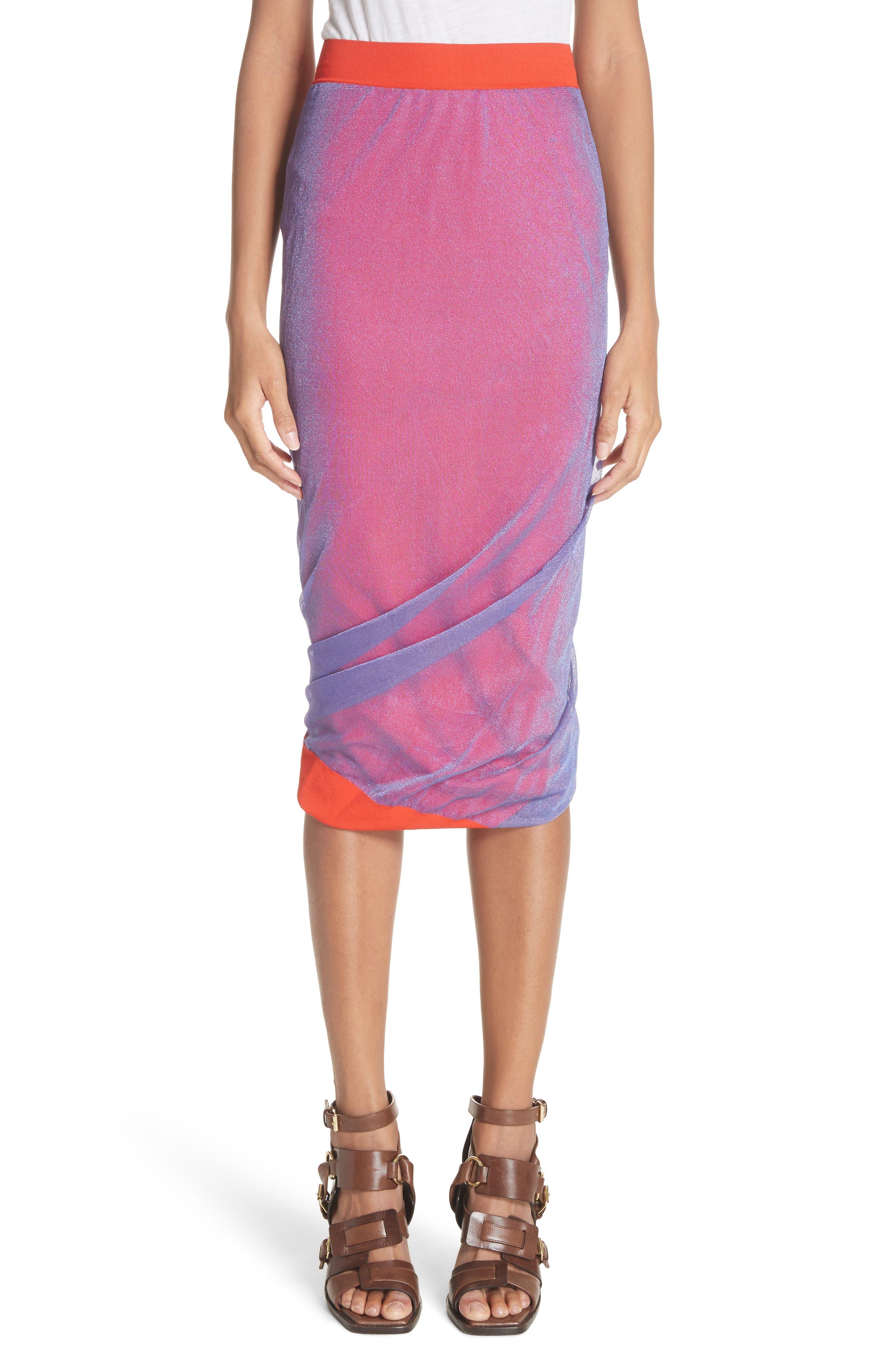 ATLEIN Glitter Layer Pencil Skirt