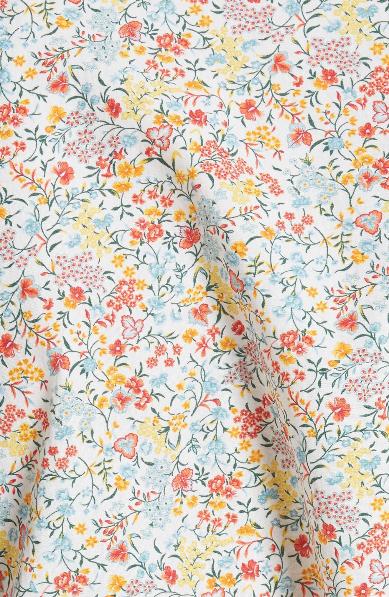 Wyatt Asymmetrical Cotton Blouse,                             Alternate thumbnail 5, color,                             Multicolor