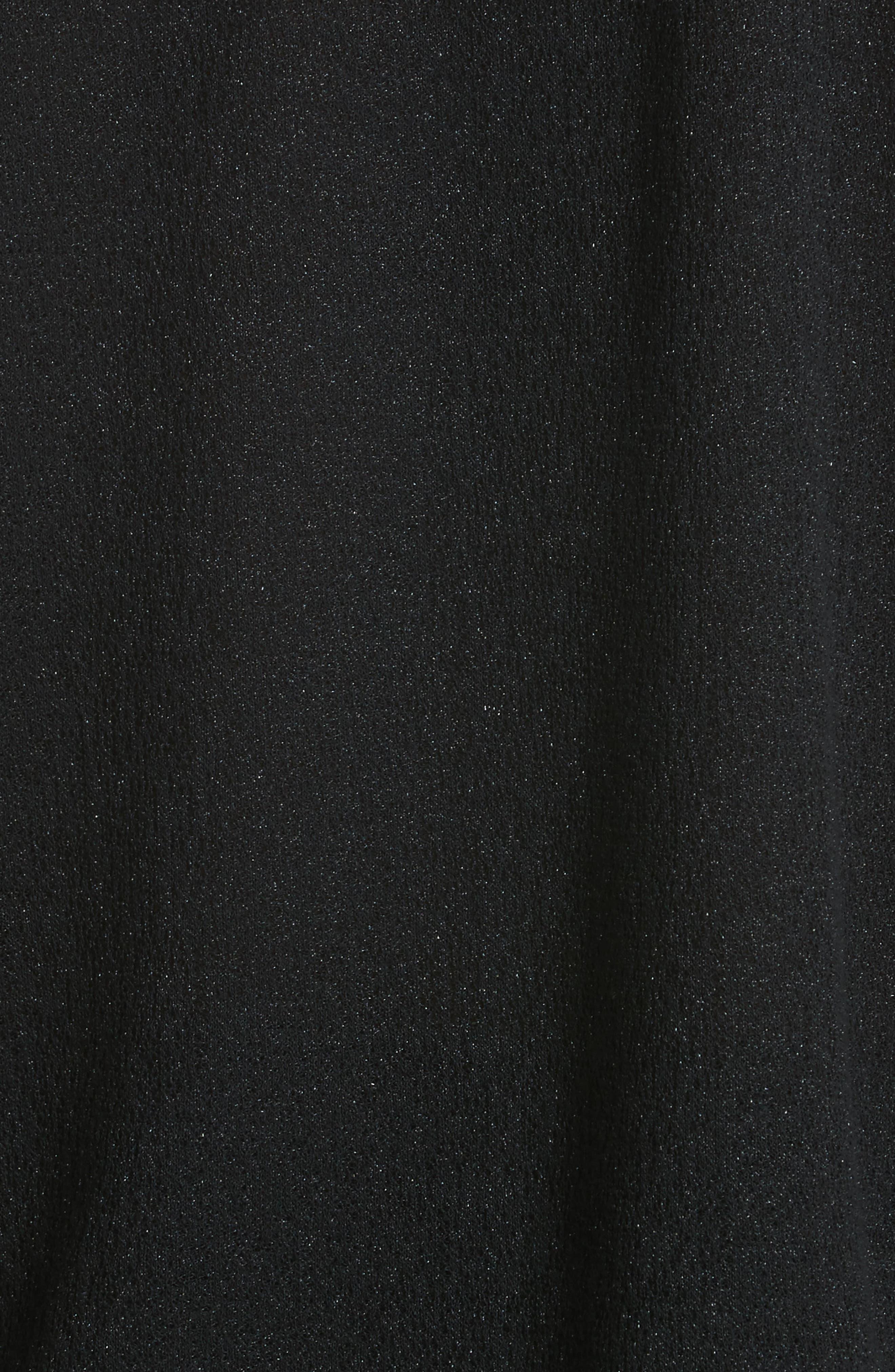 Joshua Cold Shoulder Pullover,                             Alternate thumbnail 4, color,                             Black