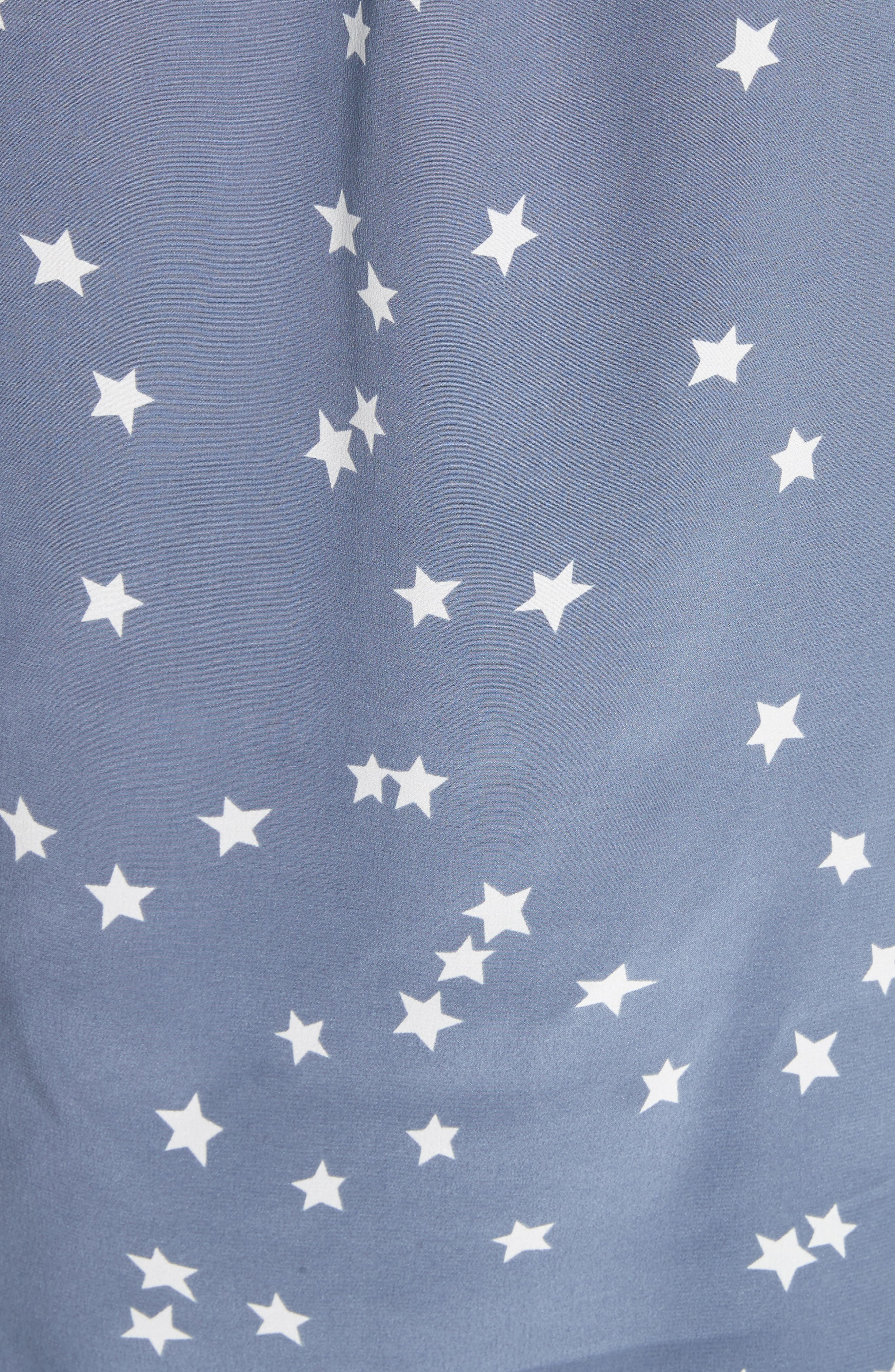 'Starry Night' Silk Shirt,                             Alternate thumbnail 5, color,                             Bluestone