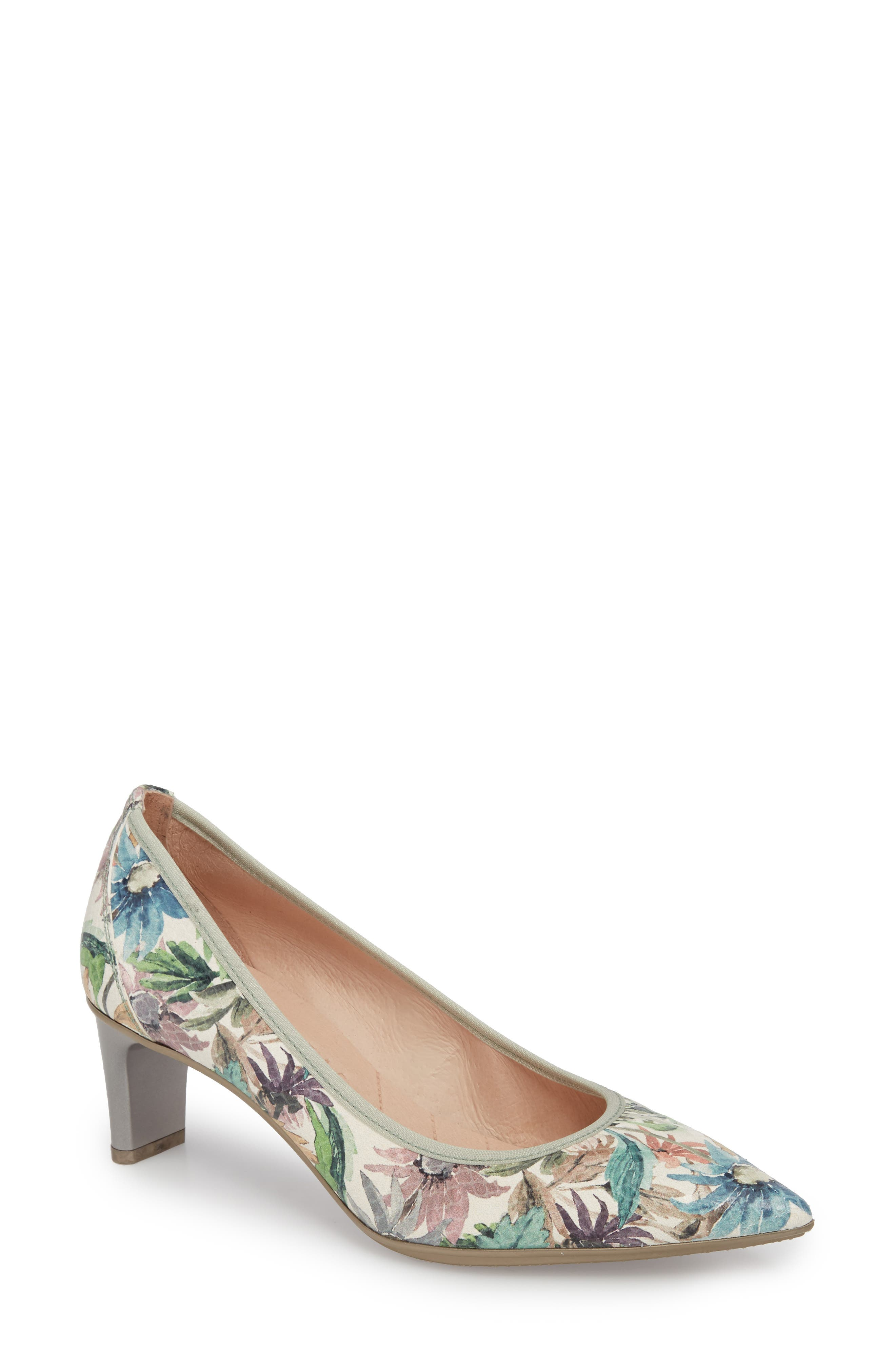 Melanie Pointy Toe Pump,                             Main thumbnail 1, color,                             Blossom Leather