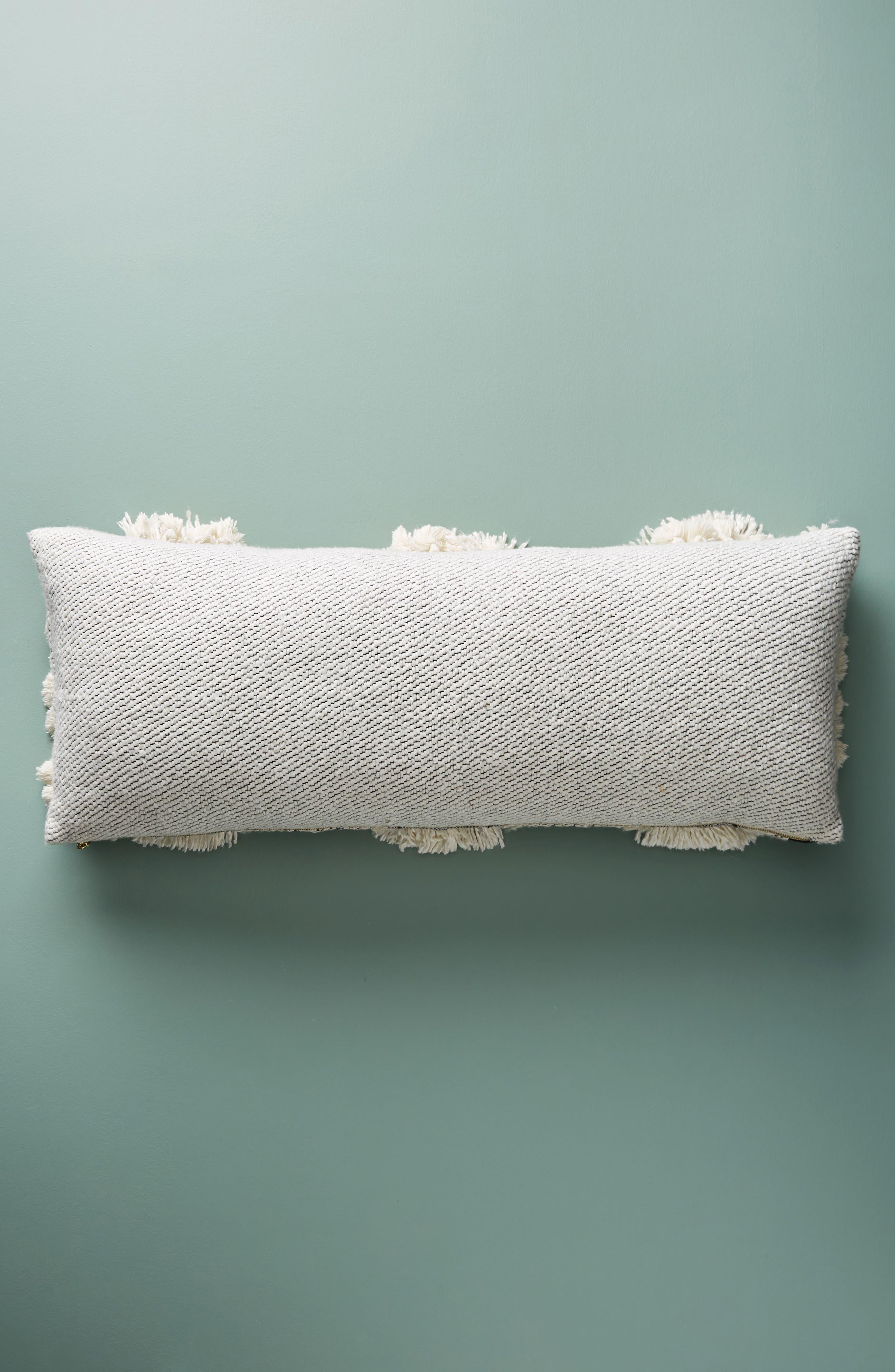Edna Woven Accent Pillow,                             Alternate thumbnail 2, color,                             Black/ White Combo