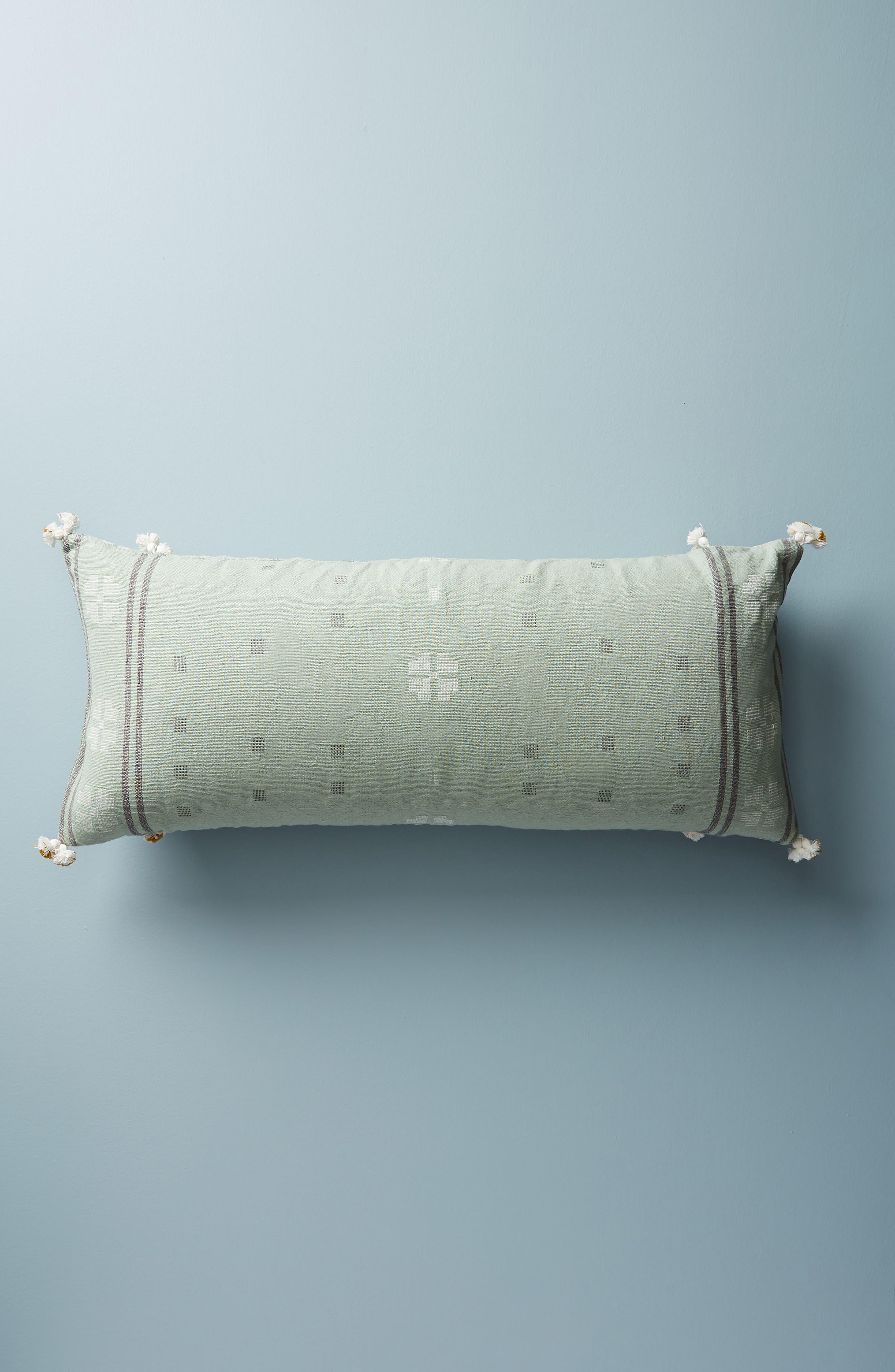 Araya Accent Pillow,                             Alternate thumbnail 2, color,                             Ochre/ Turquoise