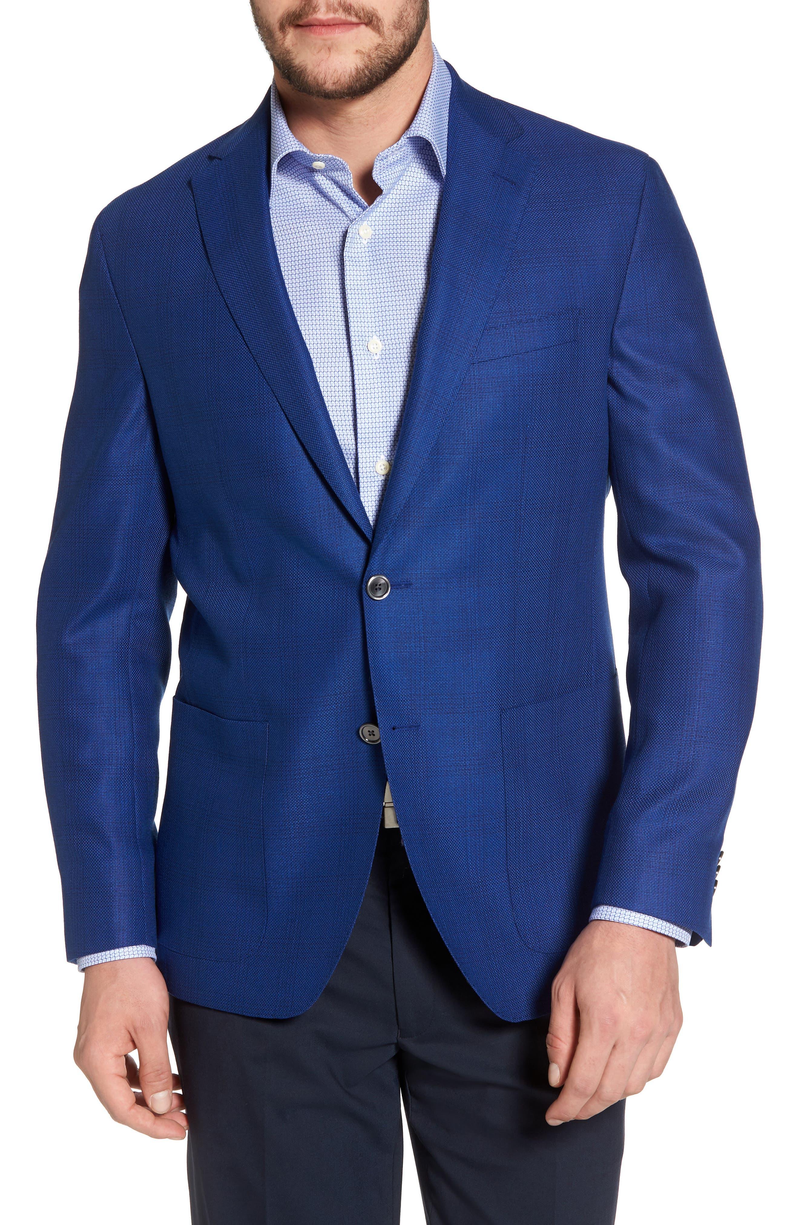 Aiden Classic Fit Sport Coat,                         Main,                         color, Medium Blue