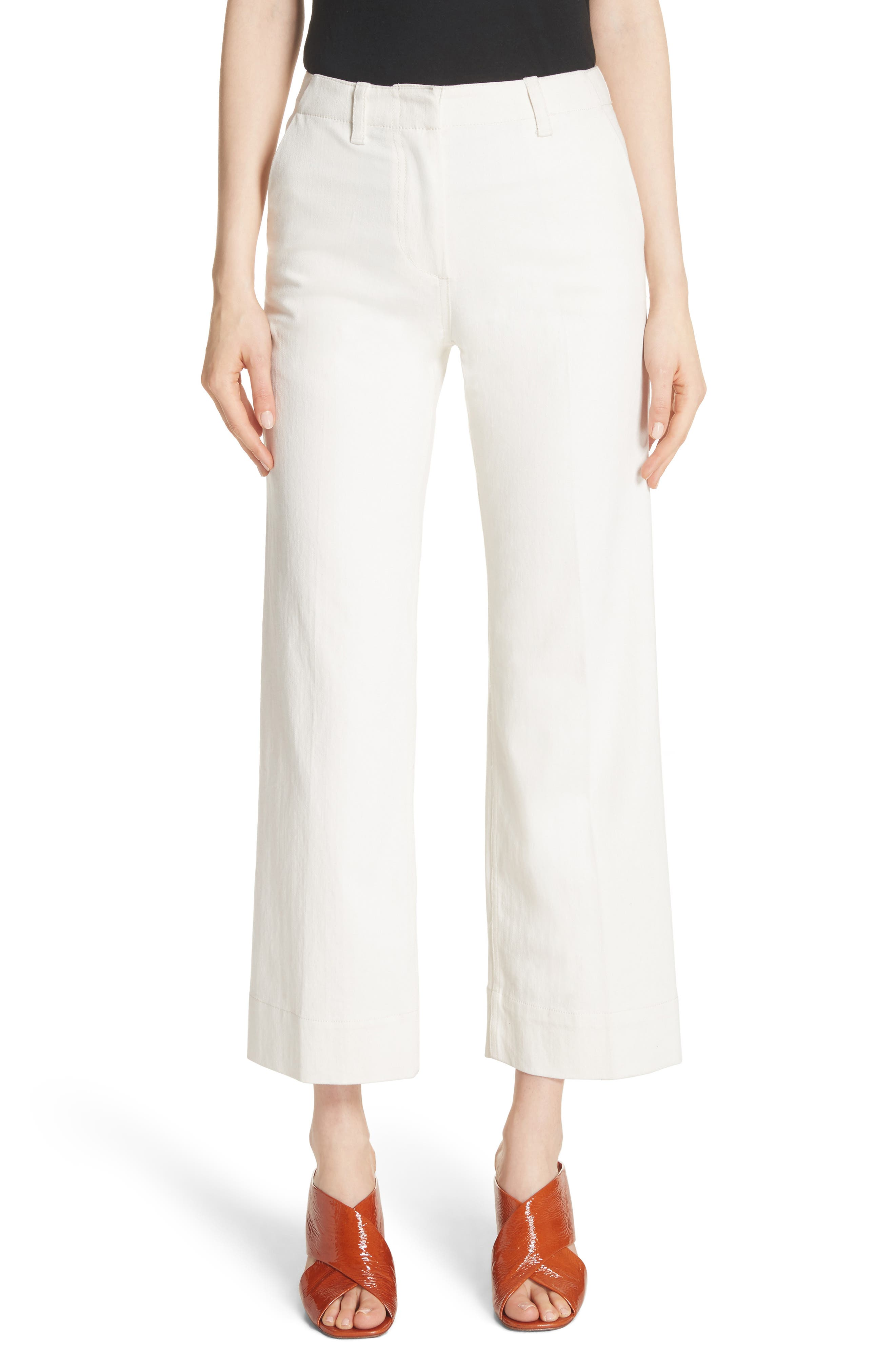 Terry Wide Leg Jeans,                         Main,                         color, Alabaster