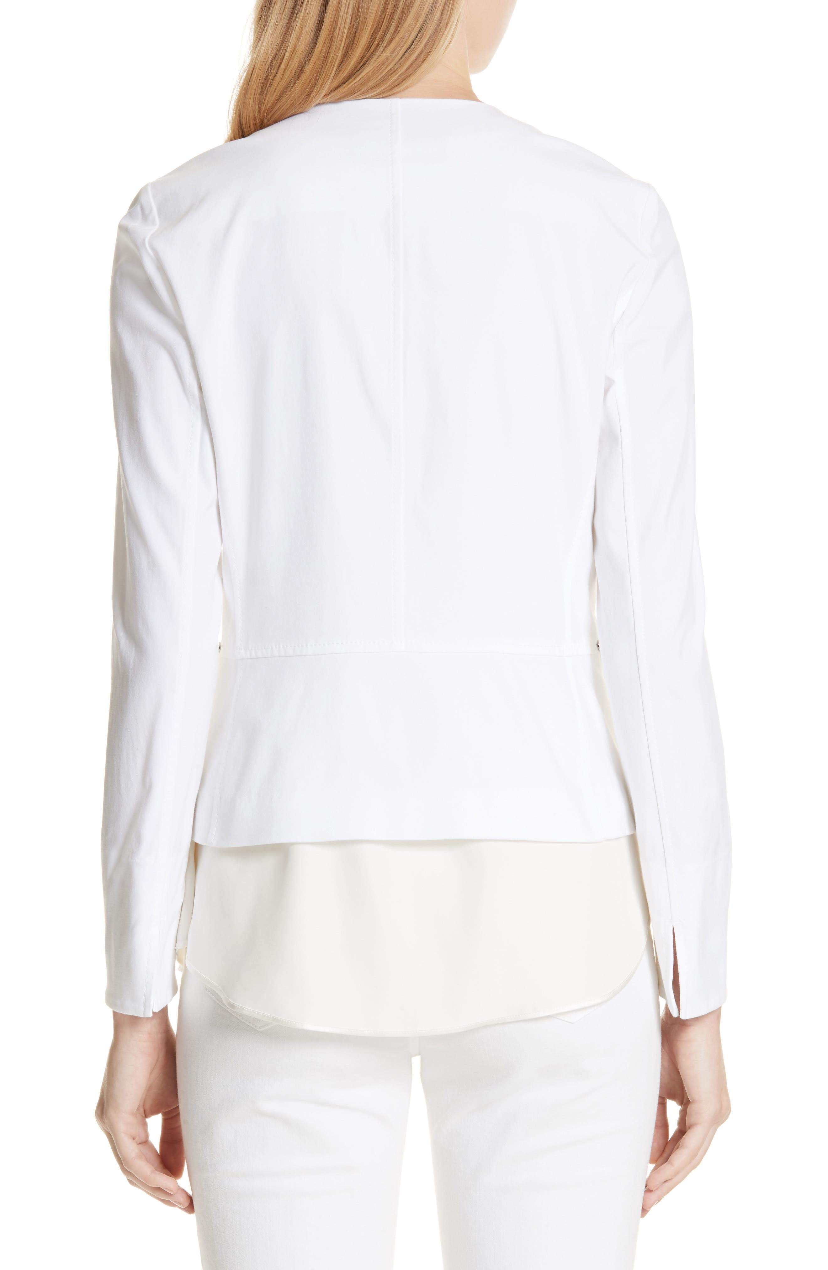 Noelle Catalina Stretch Jacket,                             Alternate thumbnail 2, color,                             White