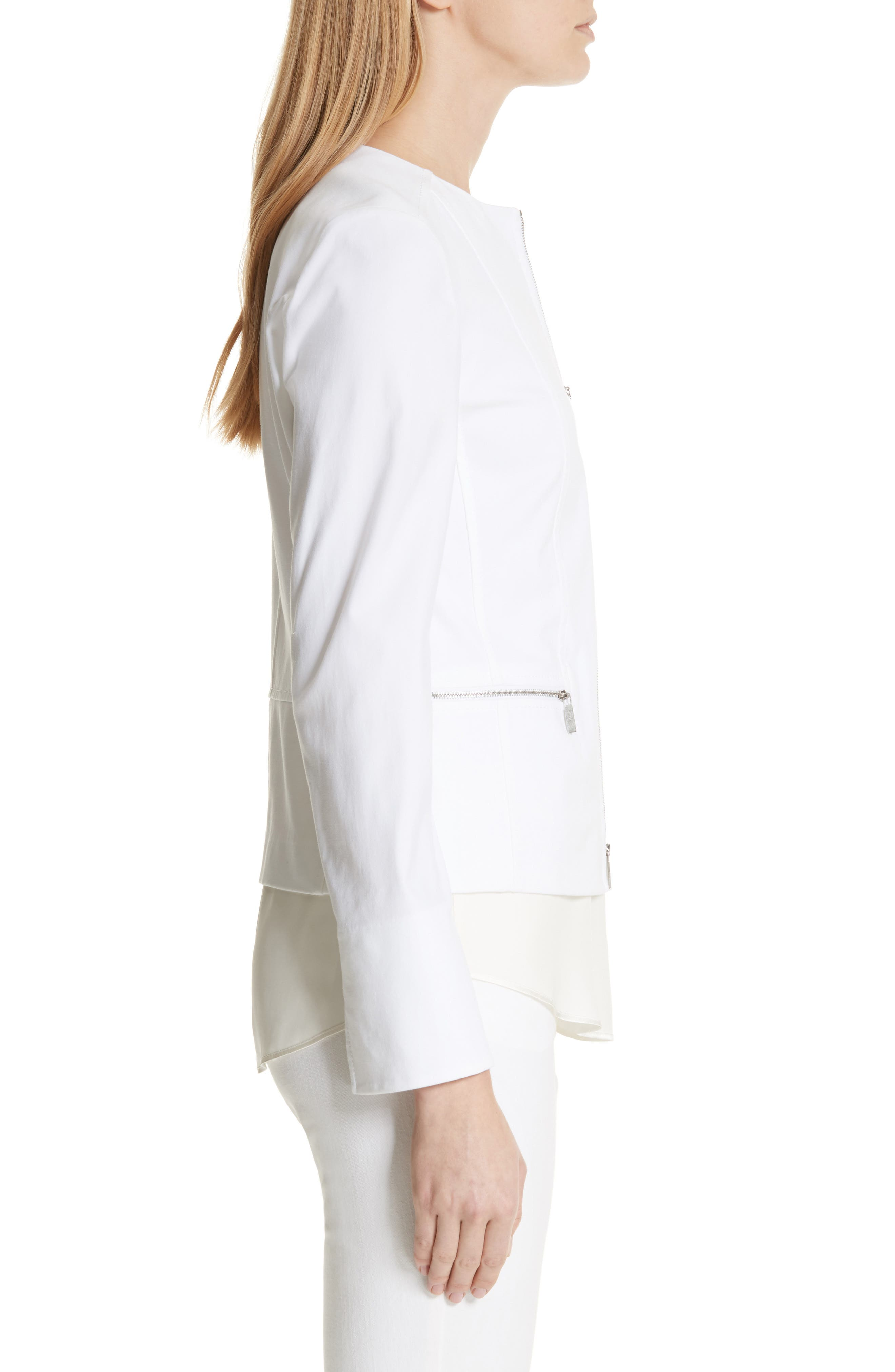 Noelle Catalina Stretch Jacket,                             Alternate thumbnail 3, color,                             White