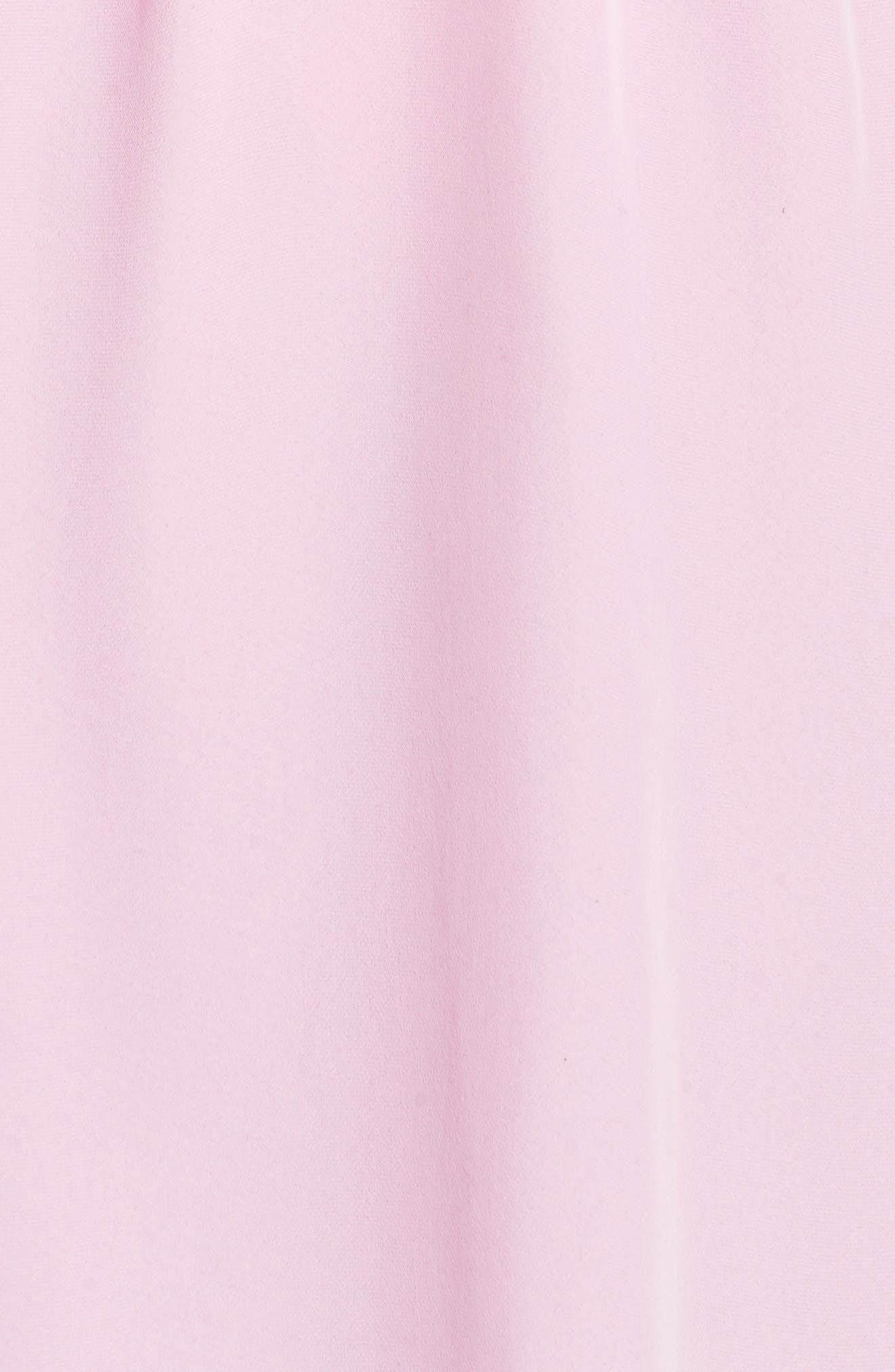 Rachael Front Drape Dress,                             Alternate thumbnail 5, color,                             Bubblegum