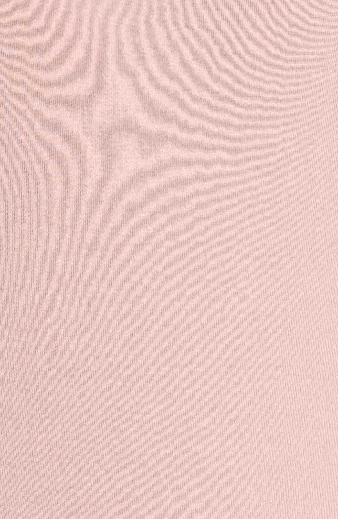 Ruffle Sleeve Sweatshirt,                             Alternate thumbnail 6, color,                             Antique Rose