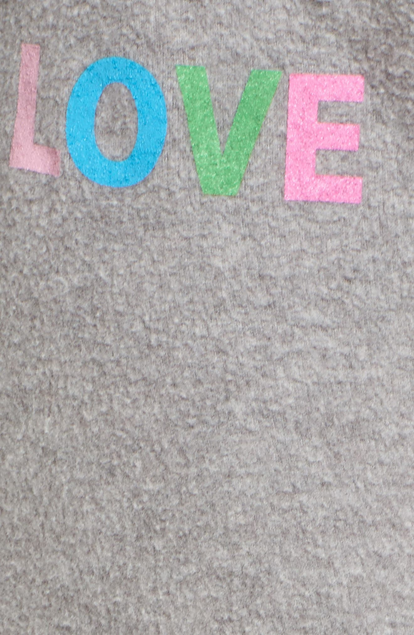 Love Sweatpants,                             Alternate thumbnail 5, color,                             Heather Grey