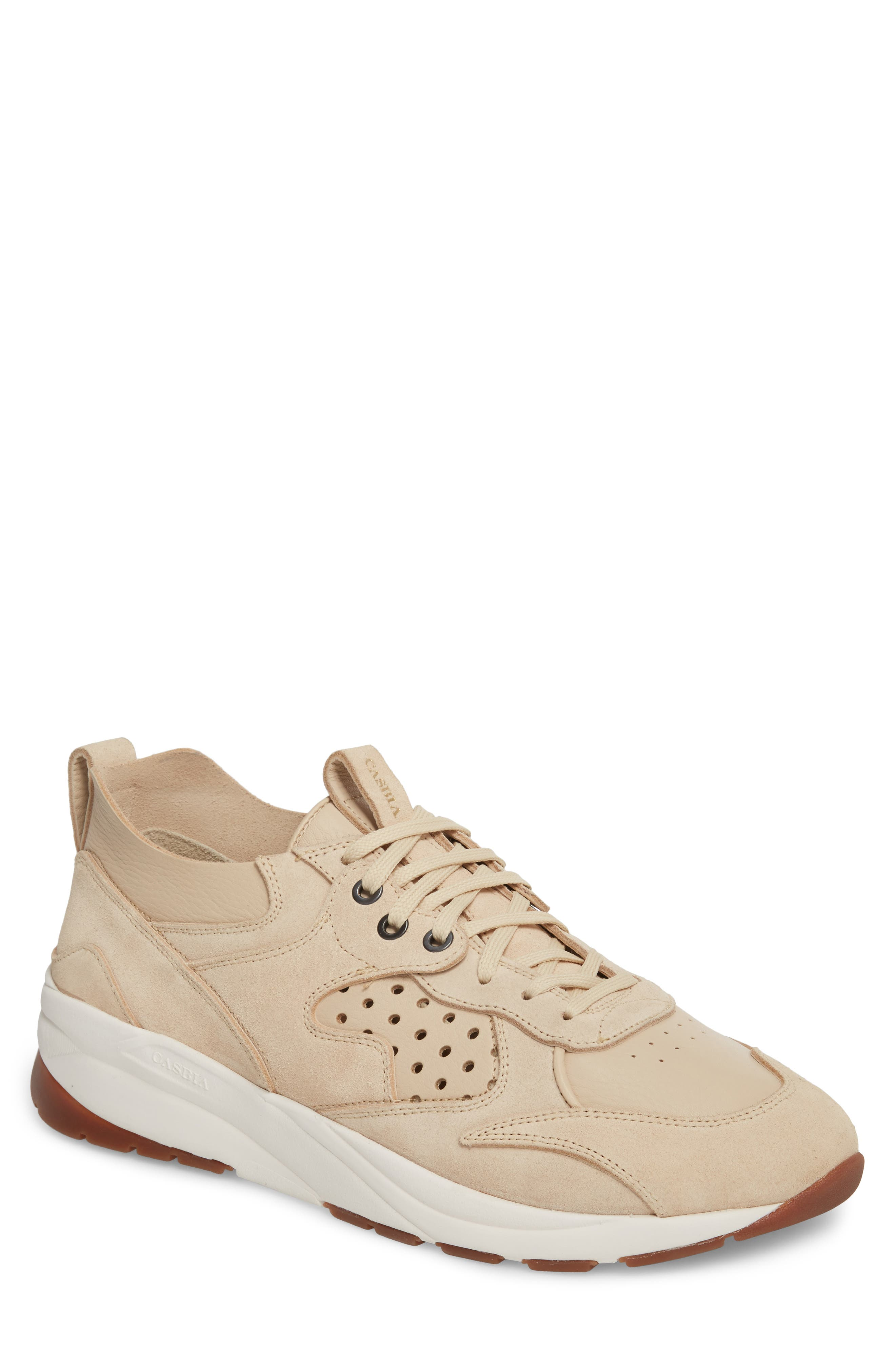 Champion Veloce Sneaker,                         Main,                         color, Beige Suede