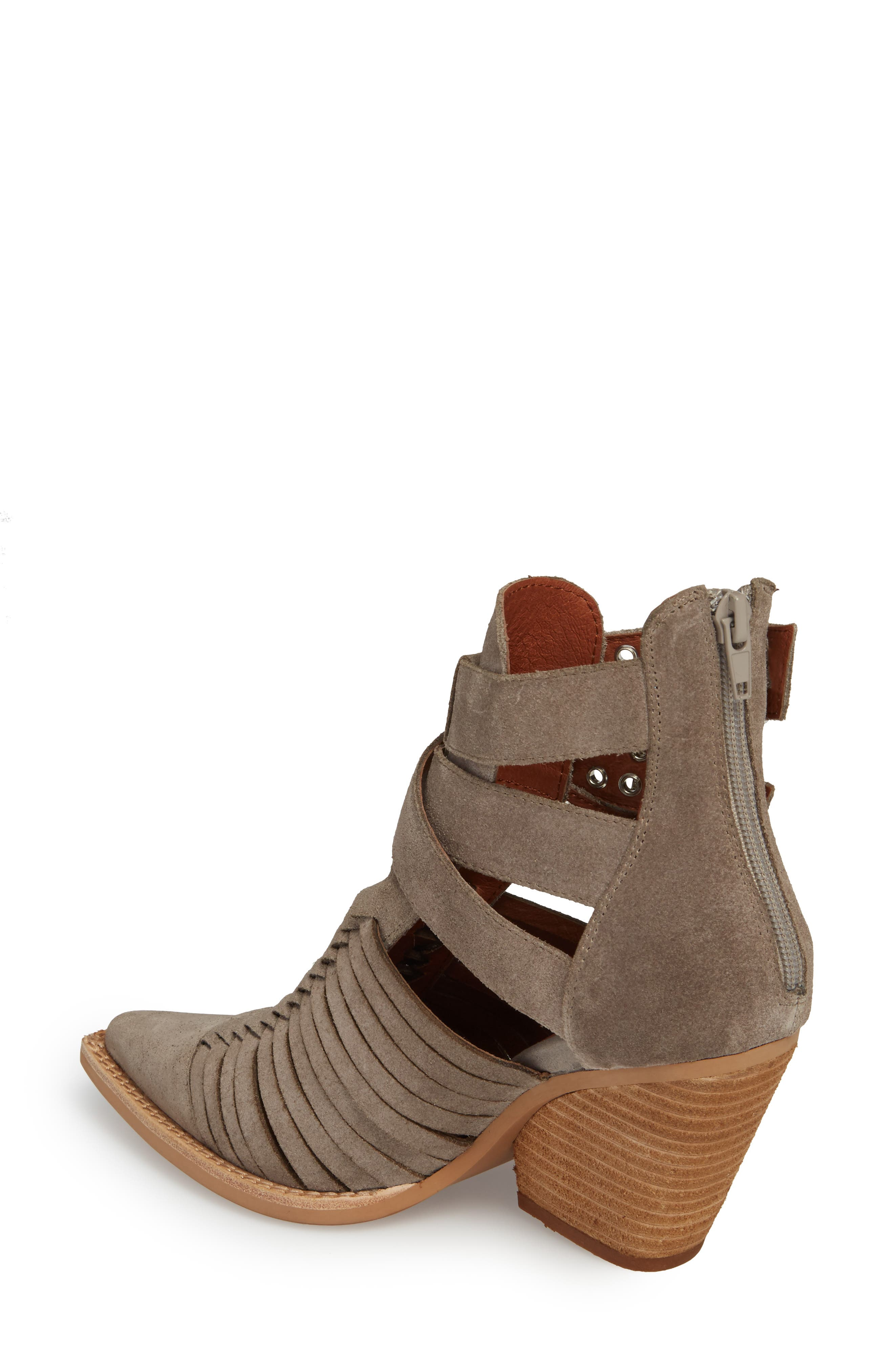 Jamison Bootie,                             Alternate thumbnail 2, color,                             Taupe Oiled Suede