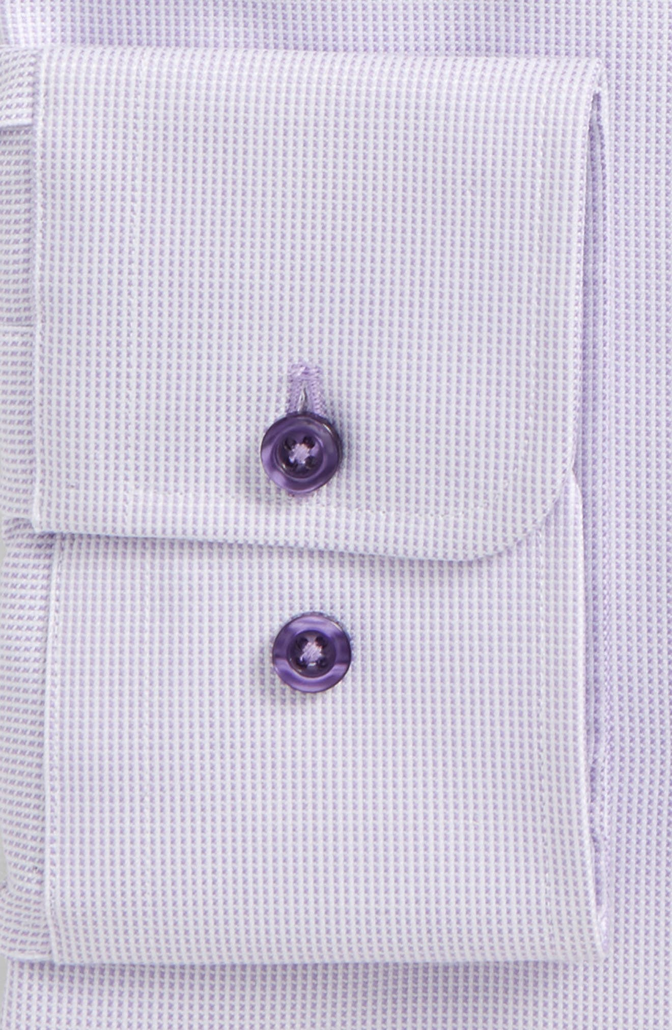 Slim Fit Check Dress Shirt,                             Alternate thumbnail 2, color,                             Lilac