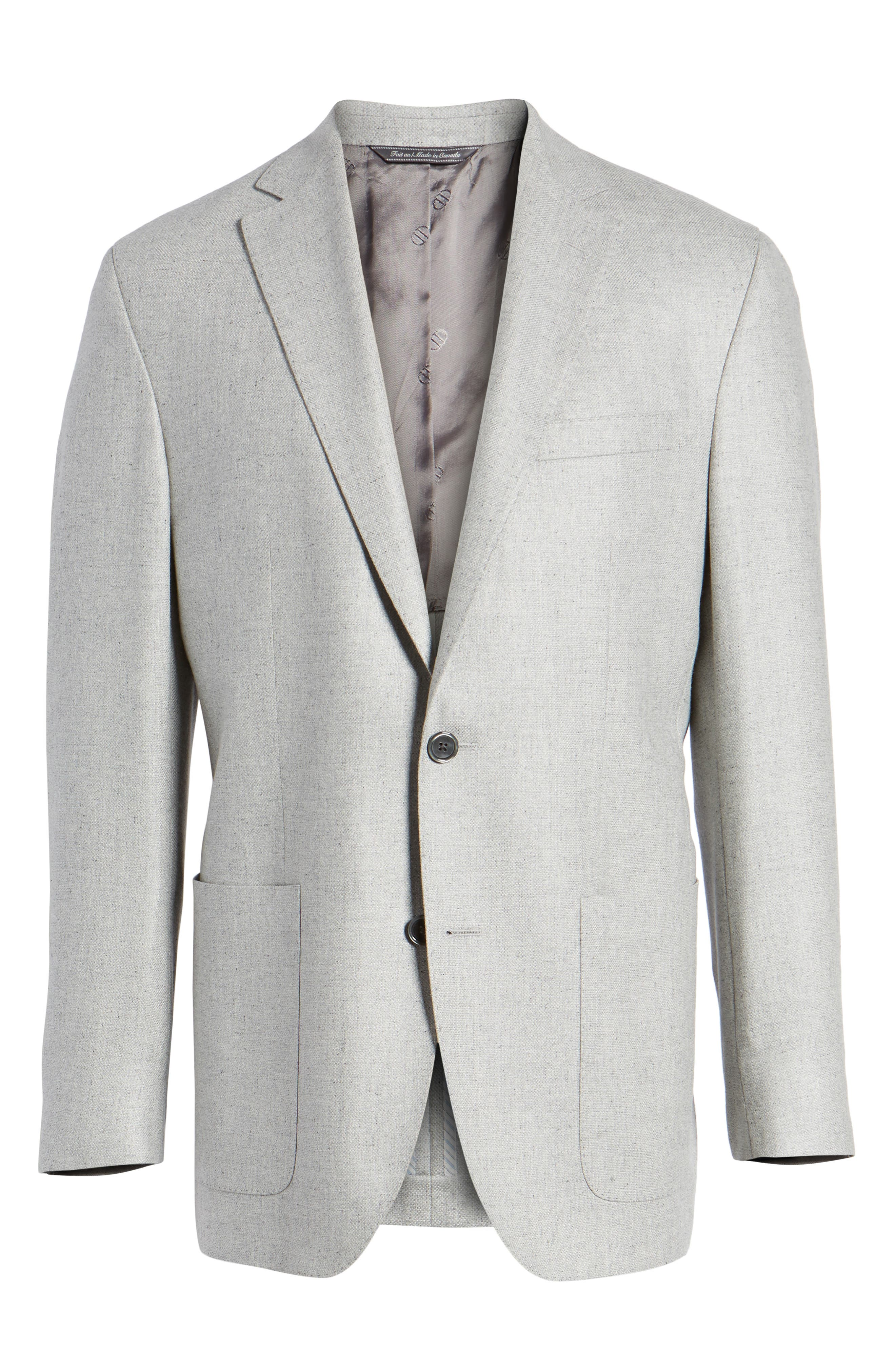 Arnold Classic Fit Wool & Silk Blazer,                             Alternate thumbnail 6, color,                             Light Grey