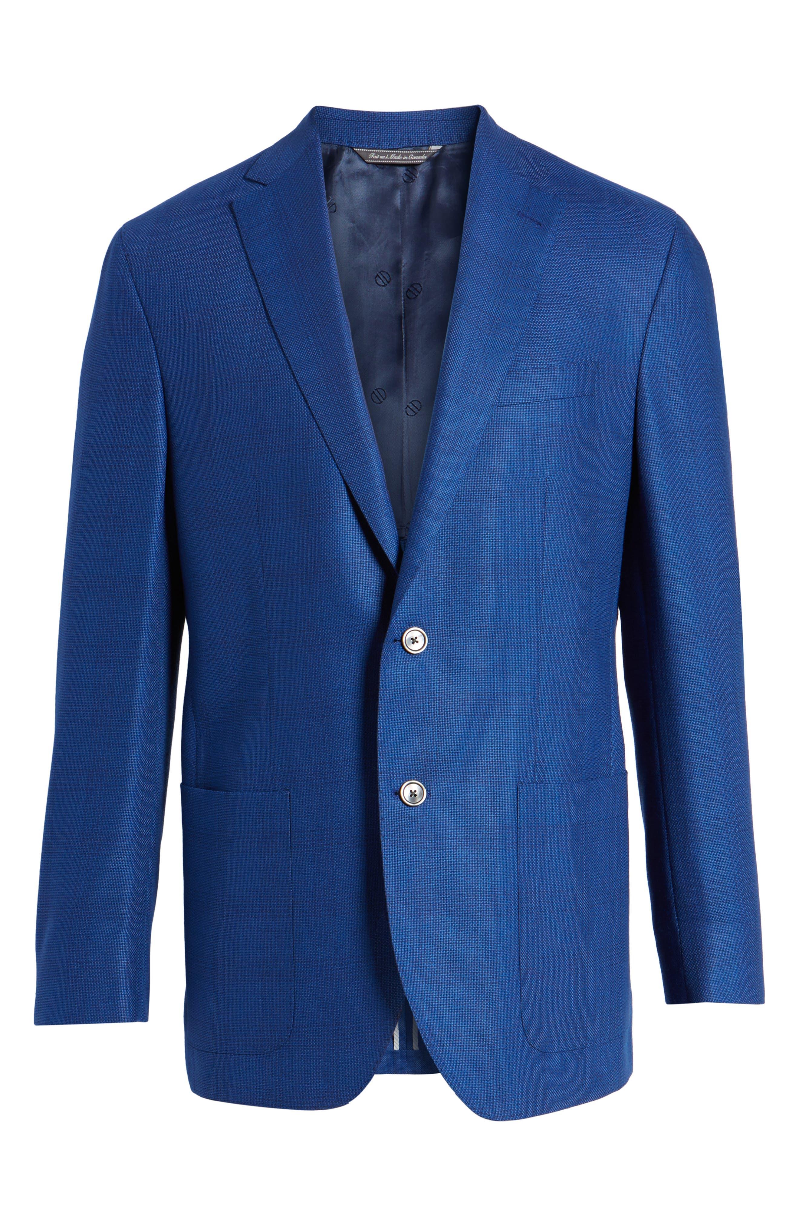 Aiden Classic Fit Sport Coat,                             Alternate thumbnail 6, color,                             Medium Blue