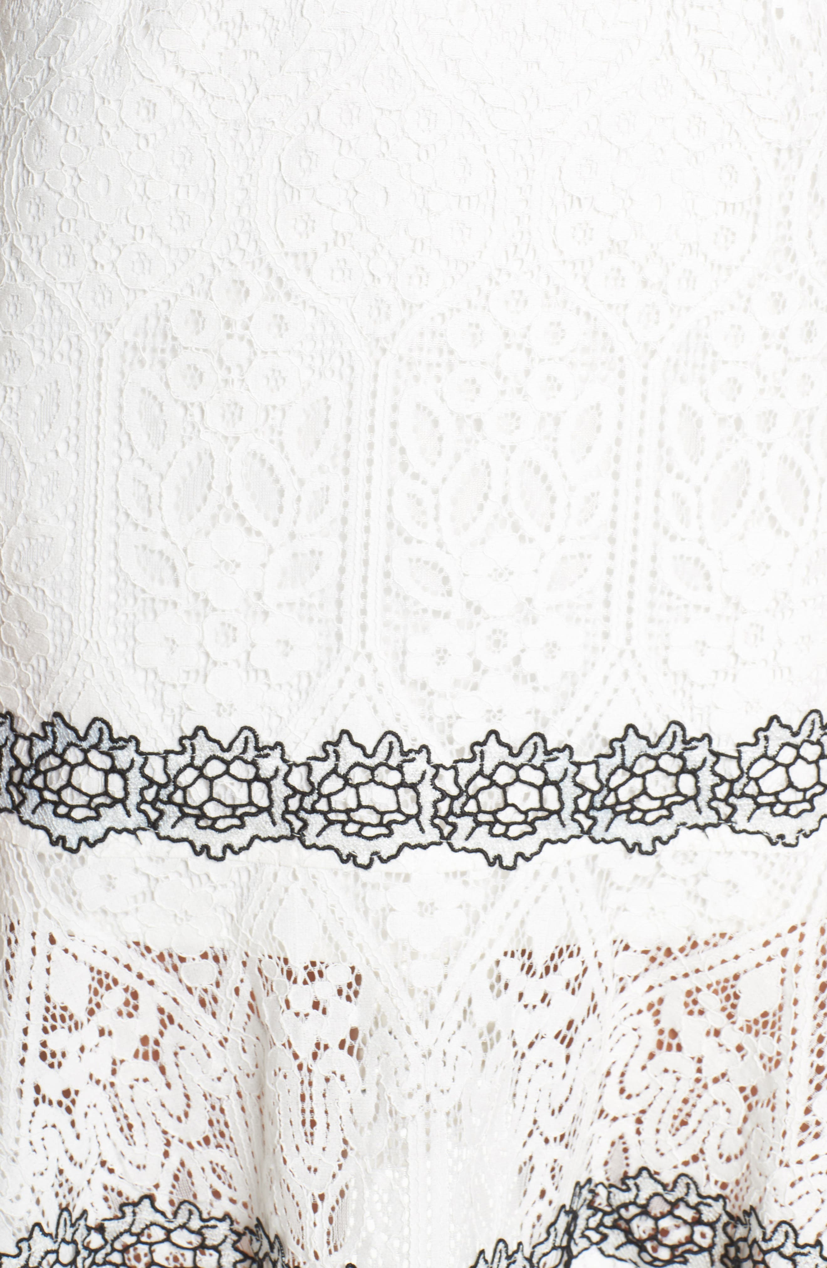 Frances Embroidered Lace Halter Dress,                             Alternate thumbnail 5, color,                             Offwhite