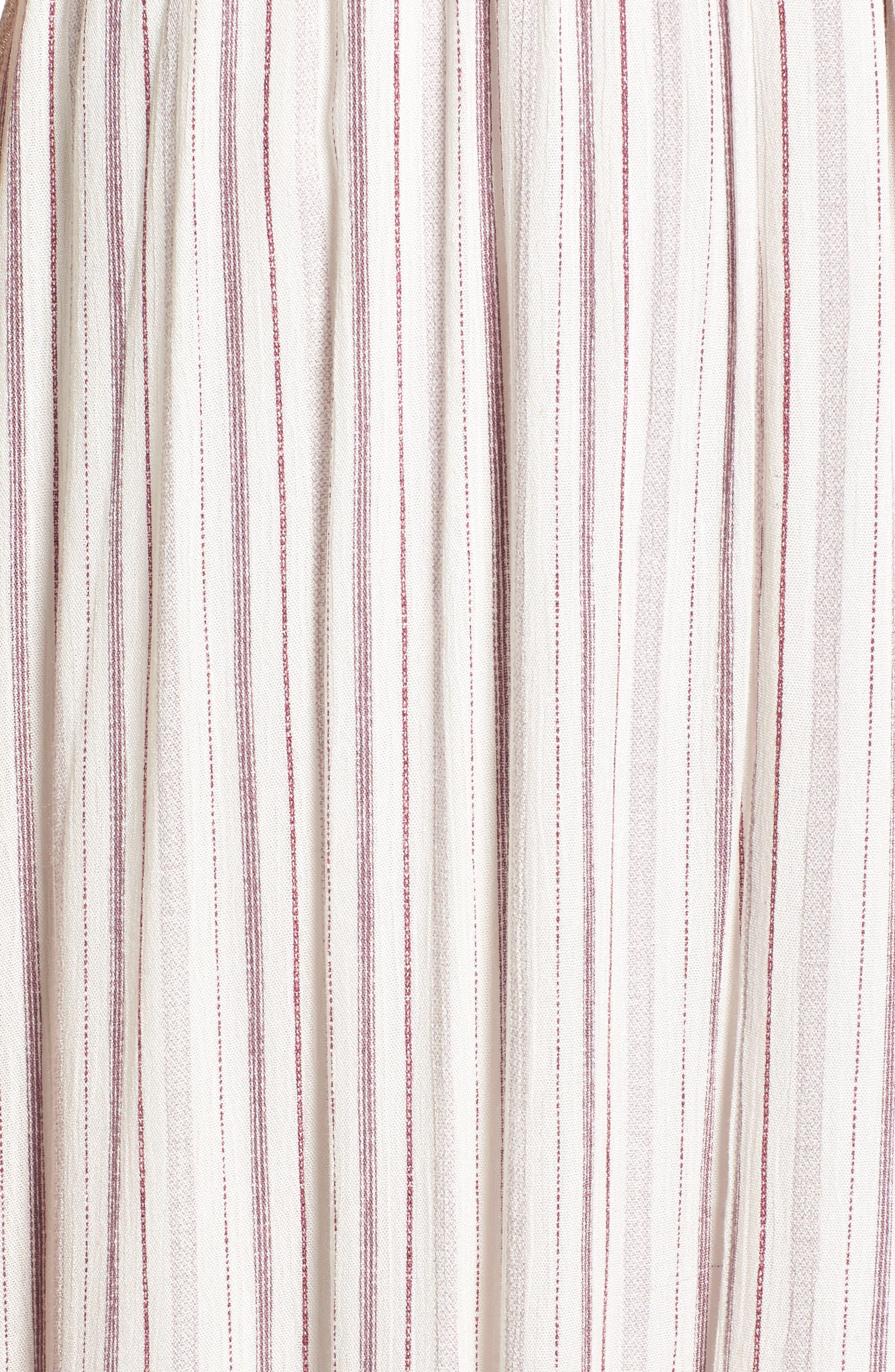 Daydreamer Stripe Maxi Dress,                             Alternate thumbnail 5, color,                             Ivory/ Mauve