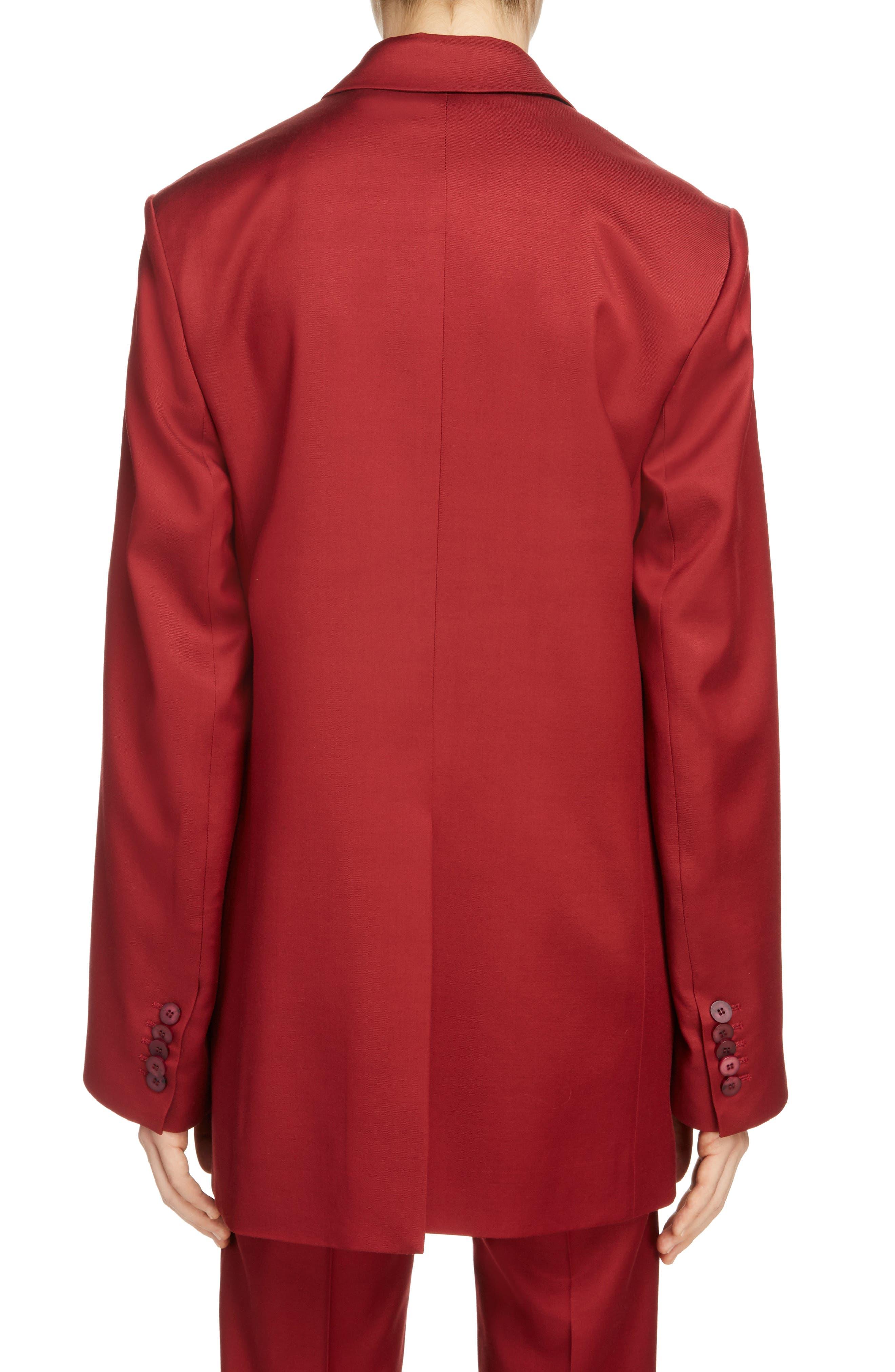 Jaria Suit Jacket,                             Alternate thumbnail 3, color,                             Crimson Red
