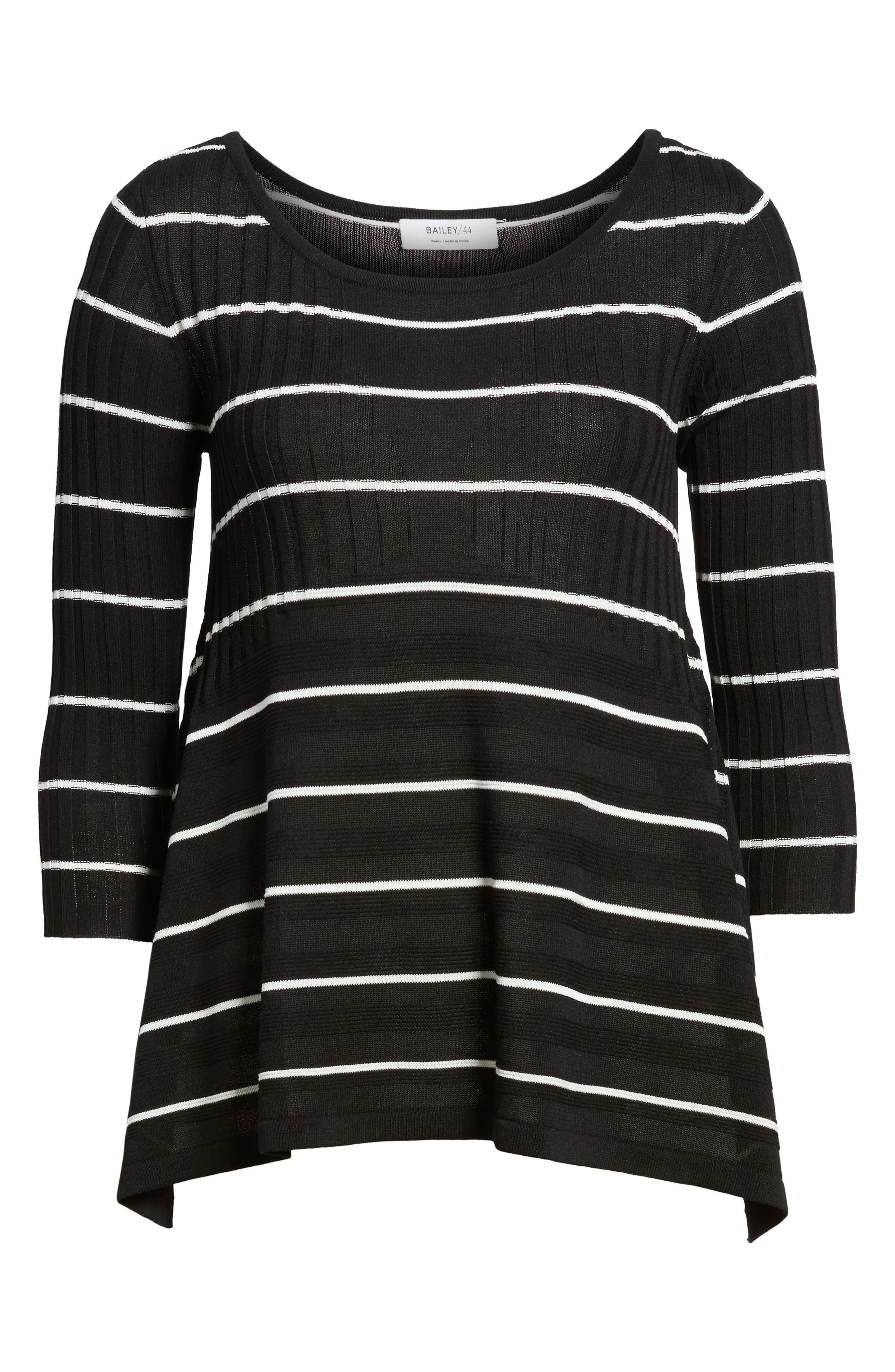 Sumo Stripe Sweater,                             Alternate thumbnail 6, color,                             Black