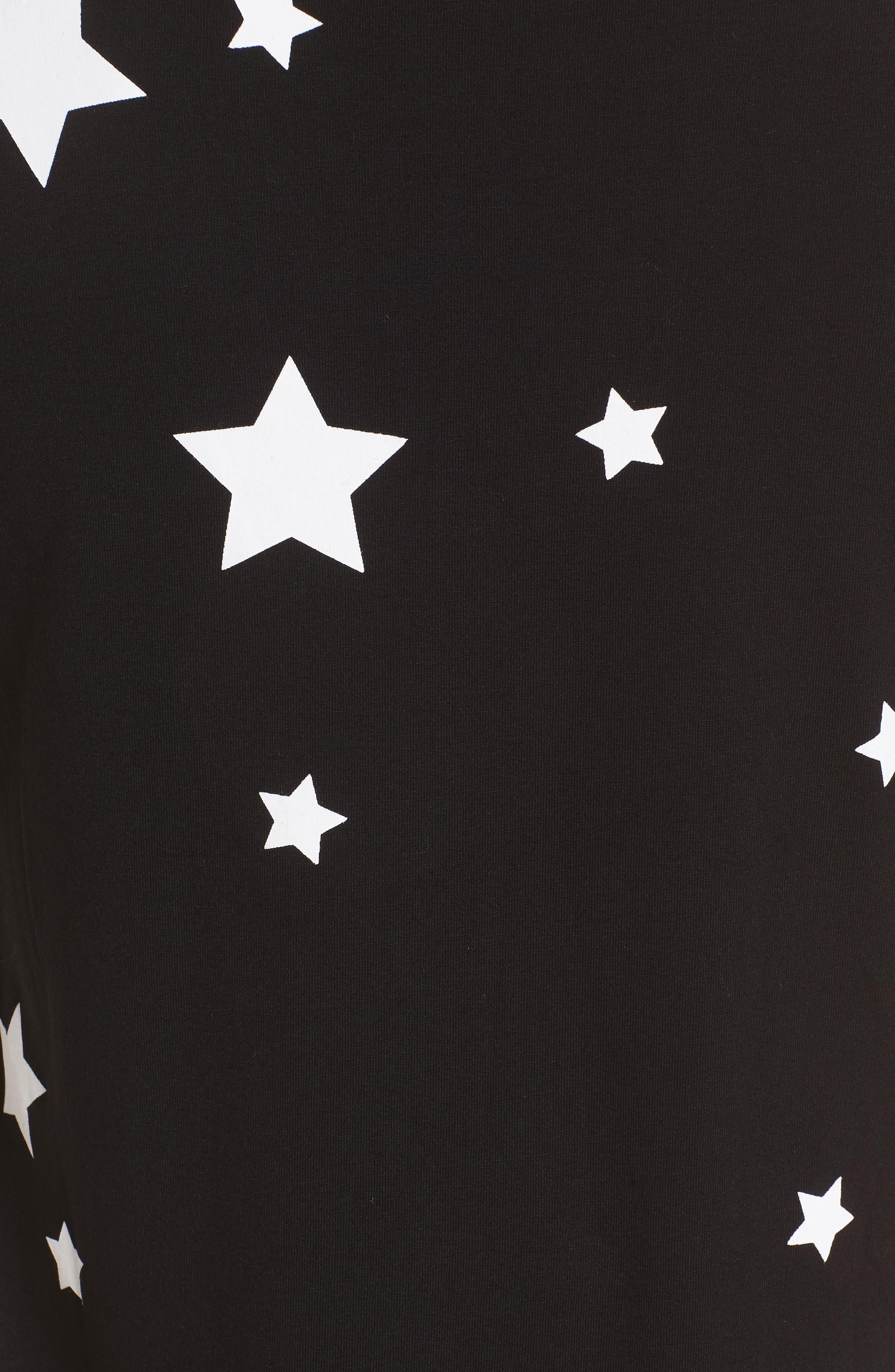 Rosie Maternity Tee,                             Alternate thumbnail 5, color,                             Black/White Stars