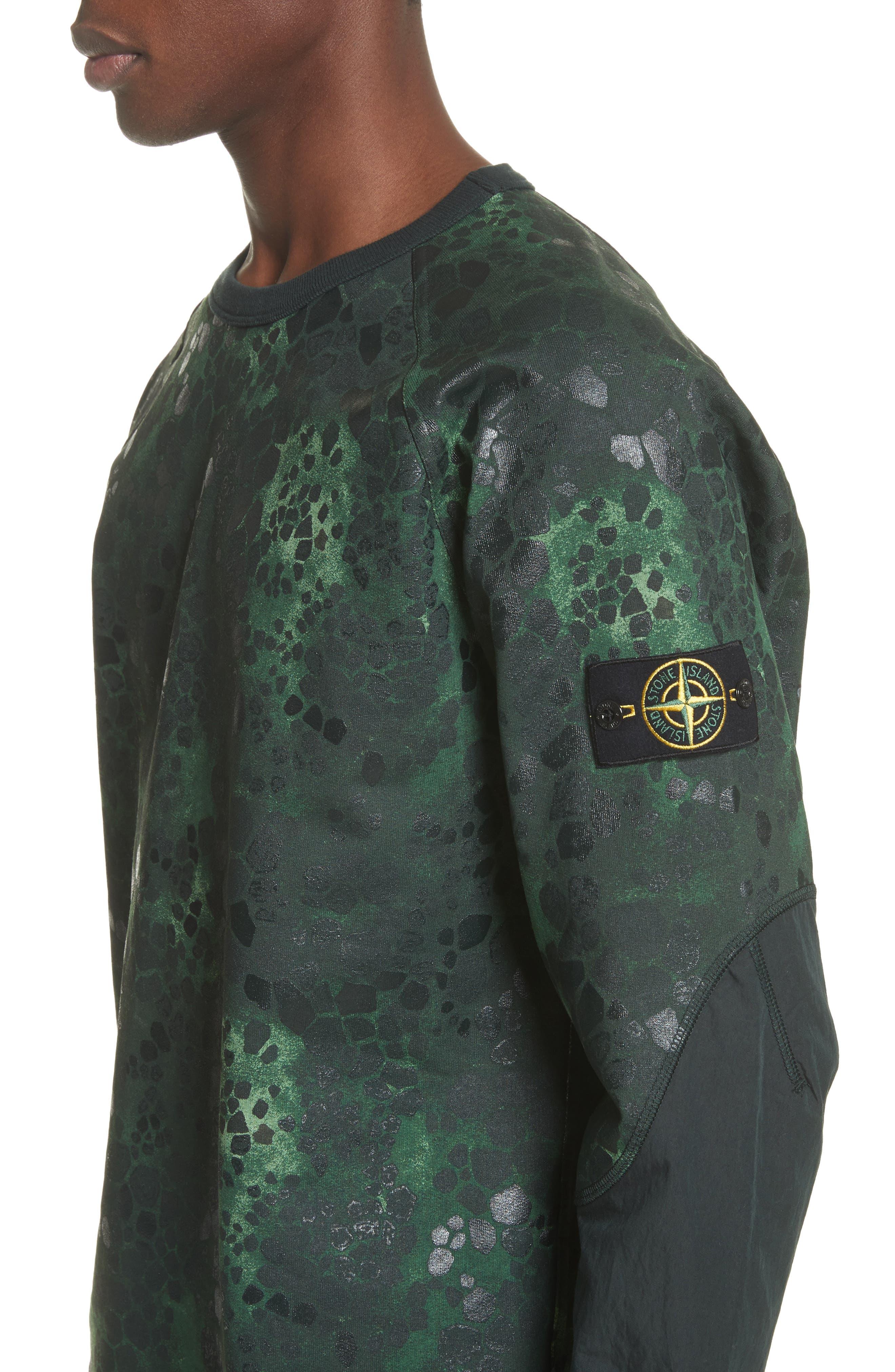 Military Crewneck Sweatshirt,                             Alternate thumbnail 4, color,                             Green
