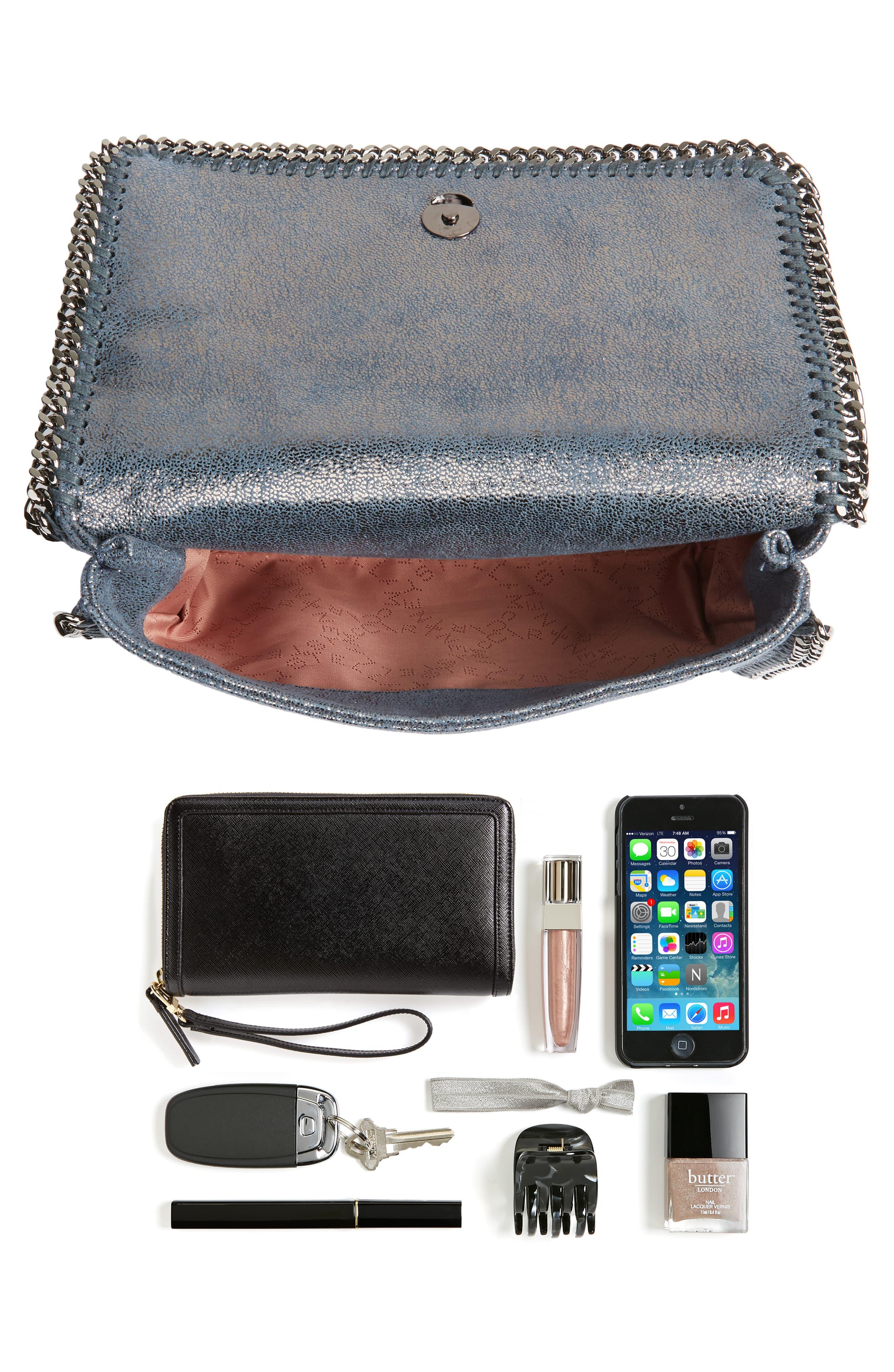 Falabella Metallic Faux Leather Convertible Shoulder Bag,                             Alternate thumbnail 7, color,