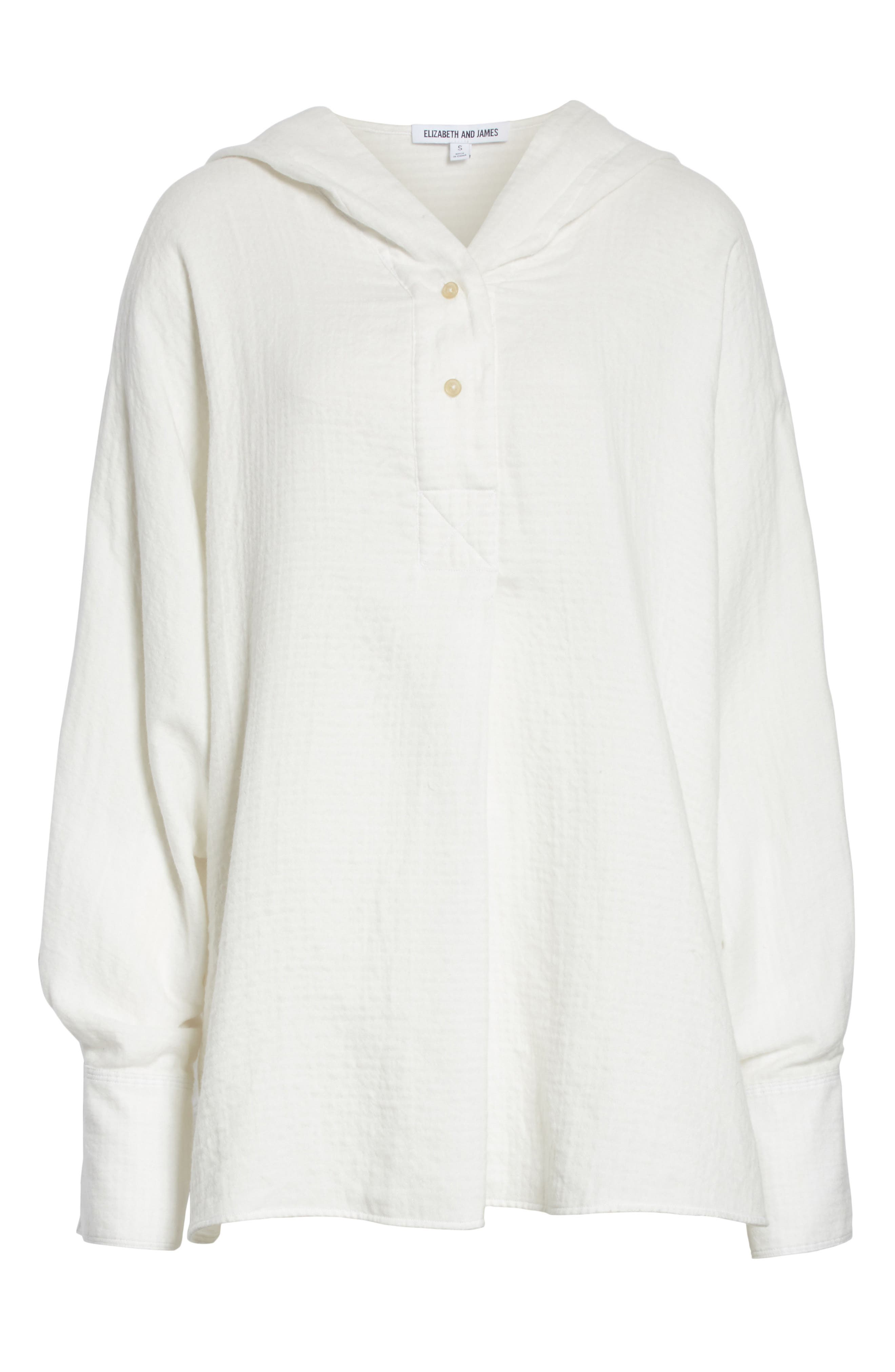 Carson Hooded Shirt,                             Alternate thumbnail 6, color,                             White