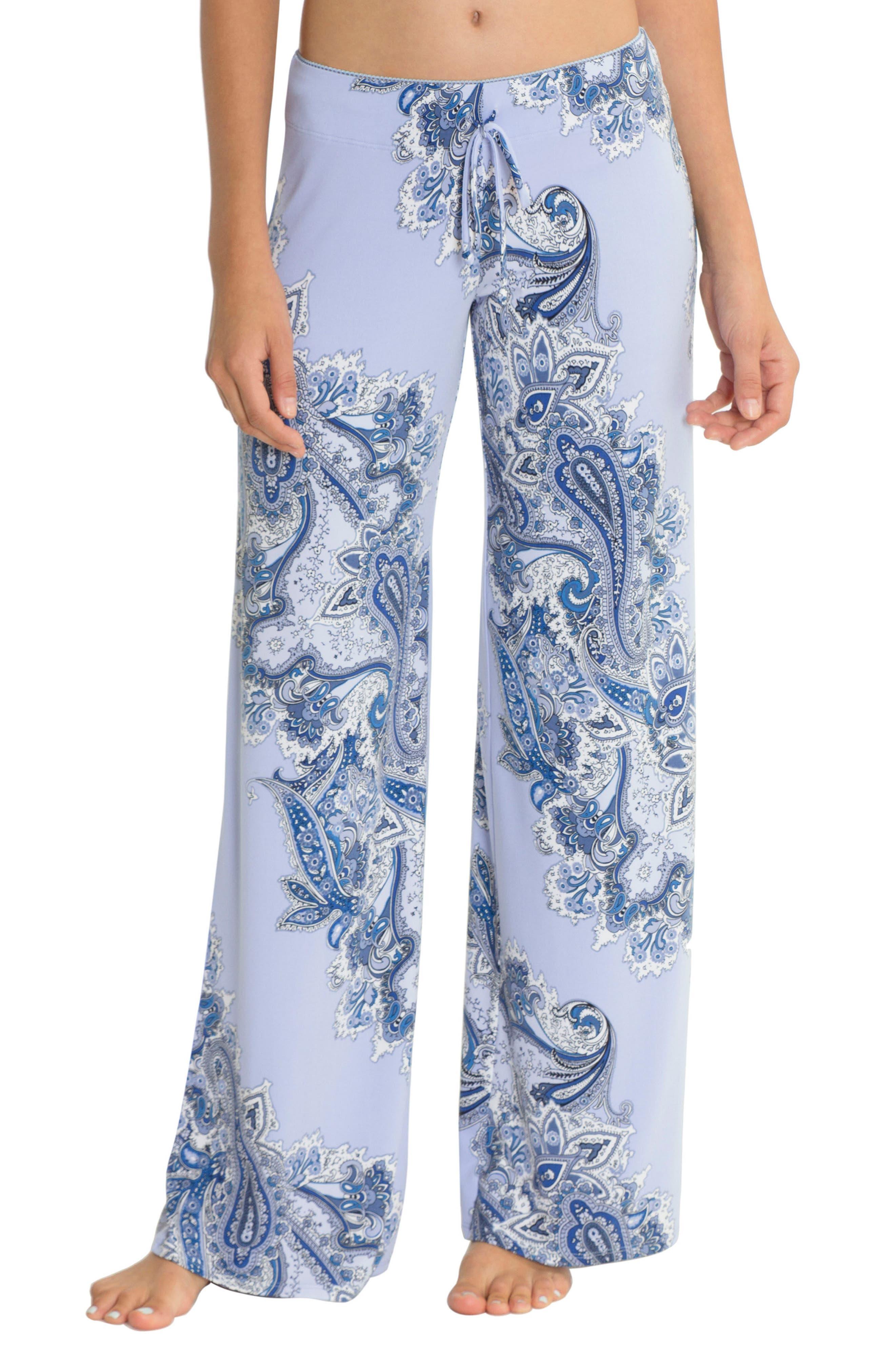 Pajama Pants,                         Main,                         color, Sky Blue