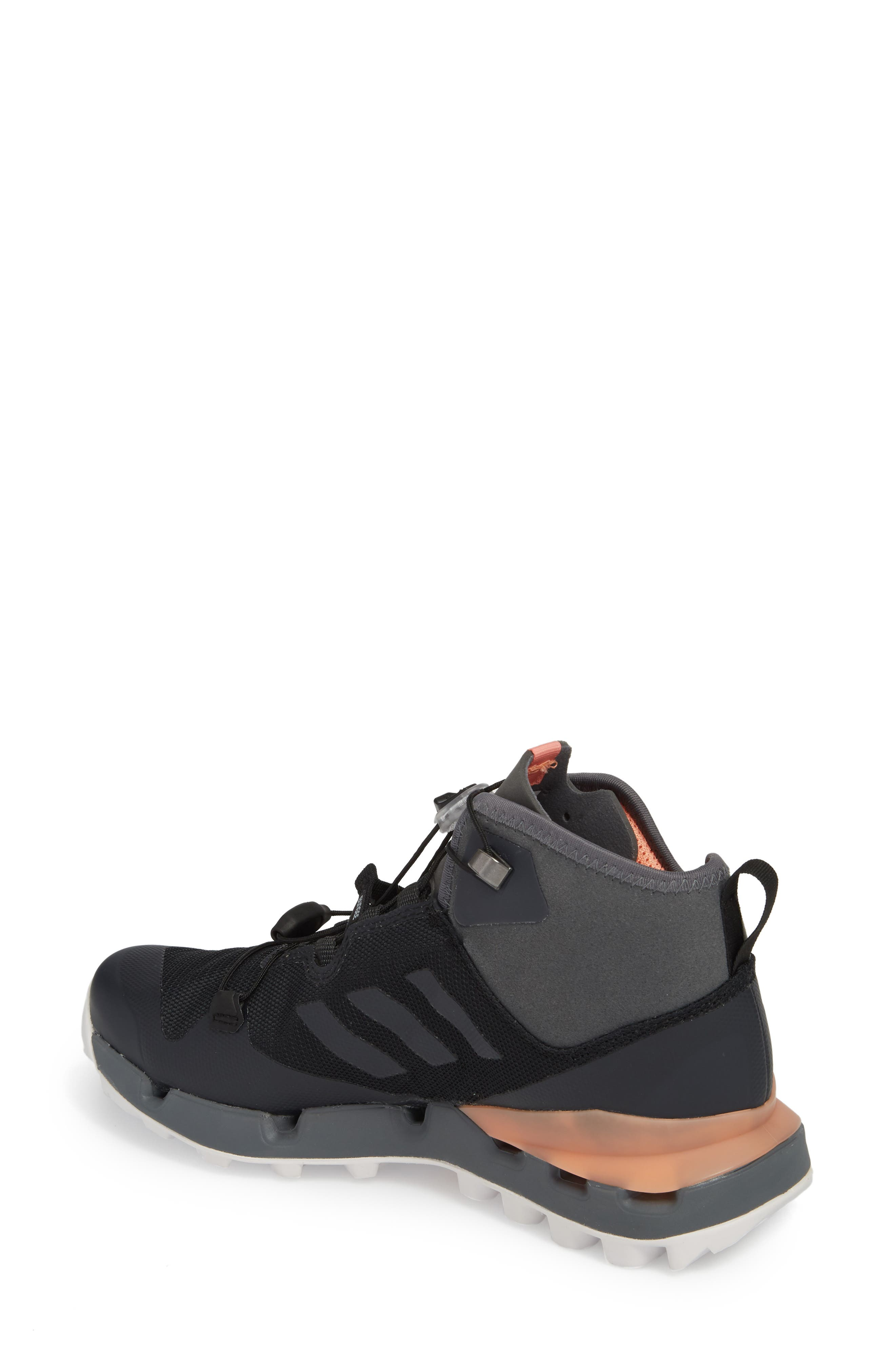 Terrex Fast Mid Gore-Tex<sup>®</sup> Hiking Boot,                             Alternate thumbnail 2, color,                             Black/ Grey Five/ Chalk Coral