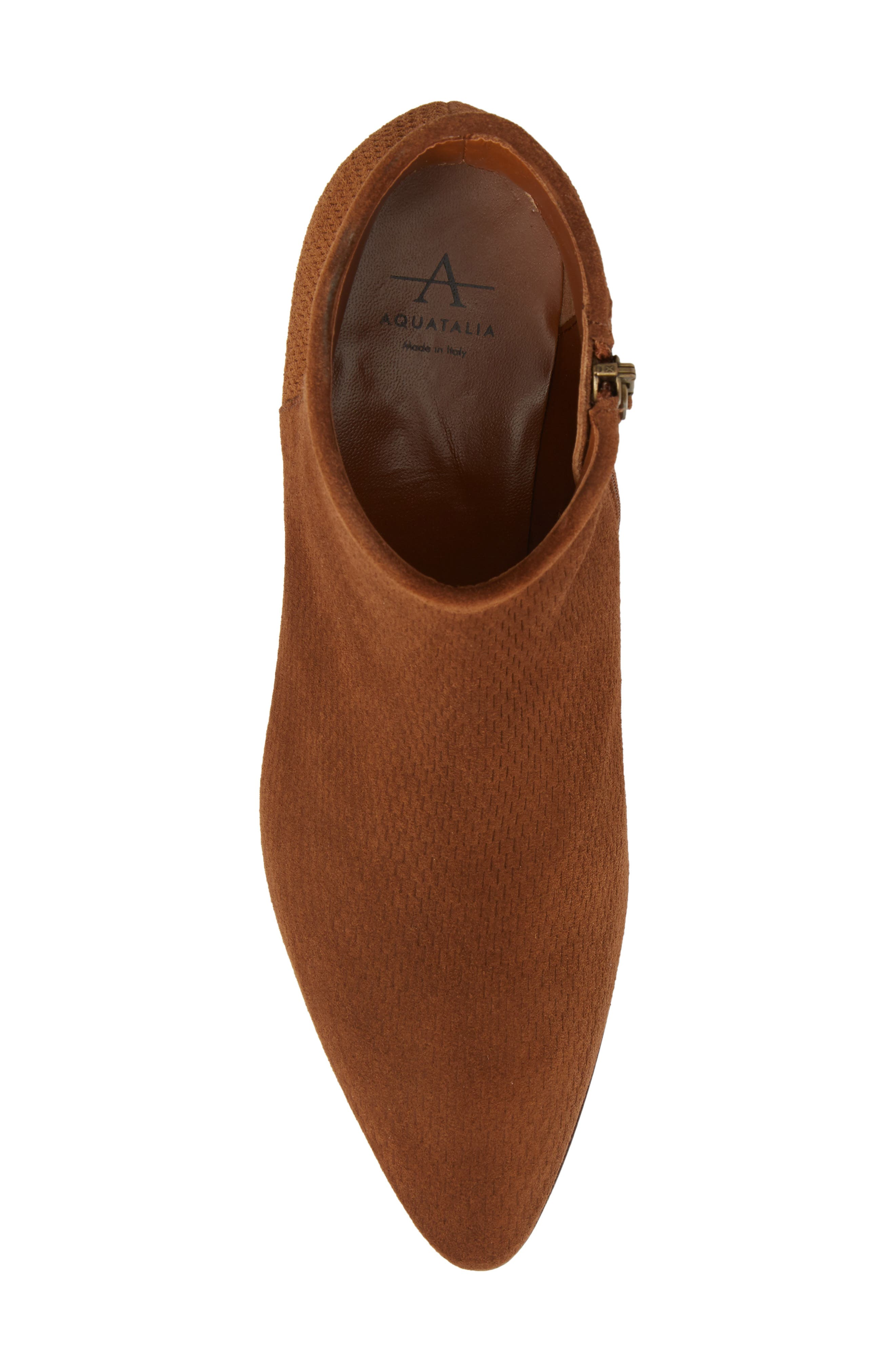 Fire Embossed Bootie,                             Alternate thumbnail 5, color,                             Chestnut