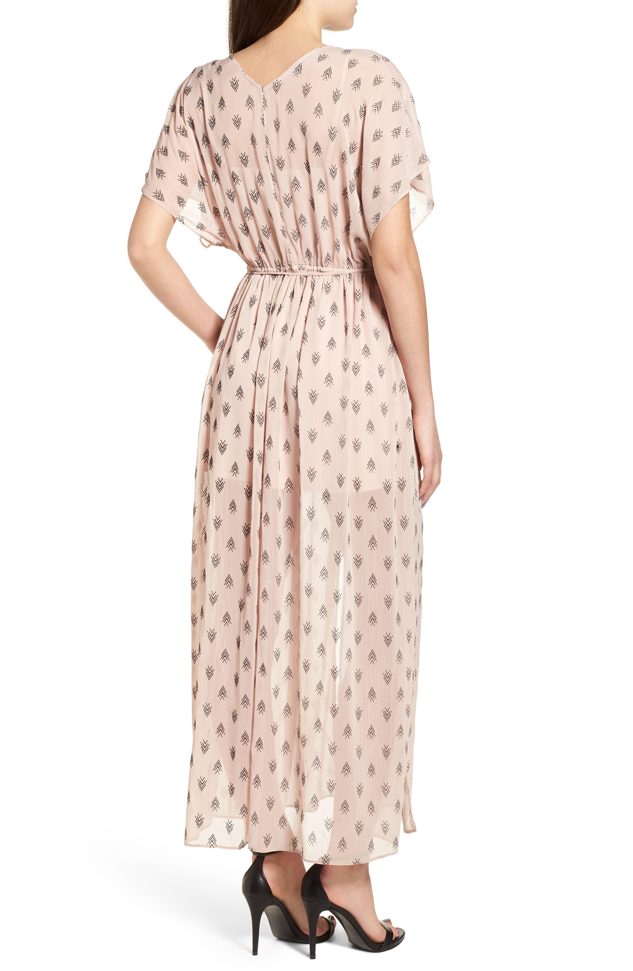 Brooke Slit Hem Dress,                             Alternate thumbnail 3, color,                             Blush