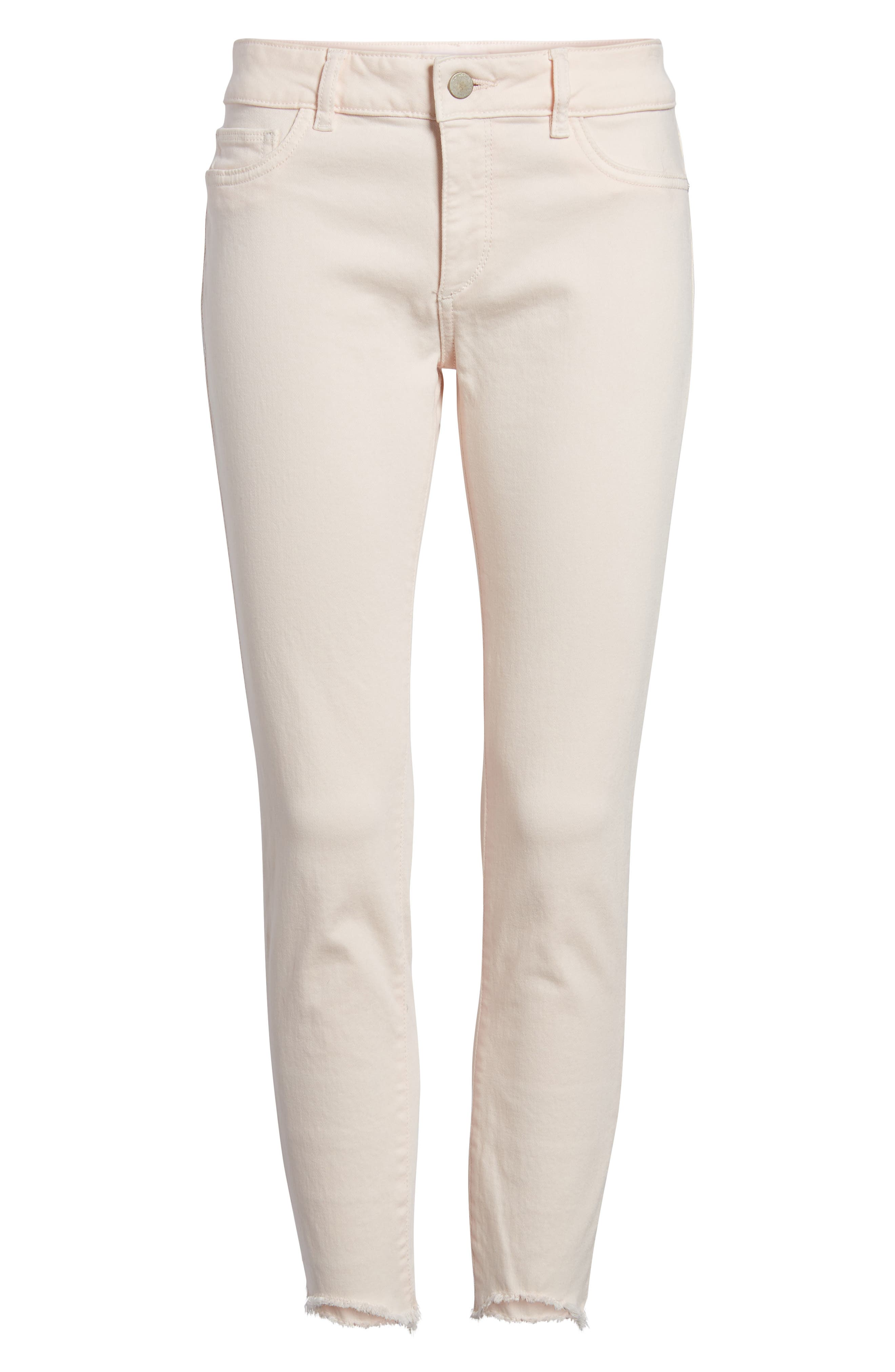 Florence Instasculpt Crop Skinny Jeans,                             Alternate thumbnail 6, color,                             Blush Pink