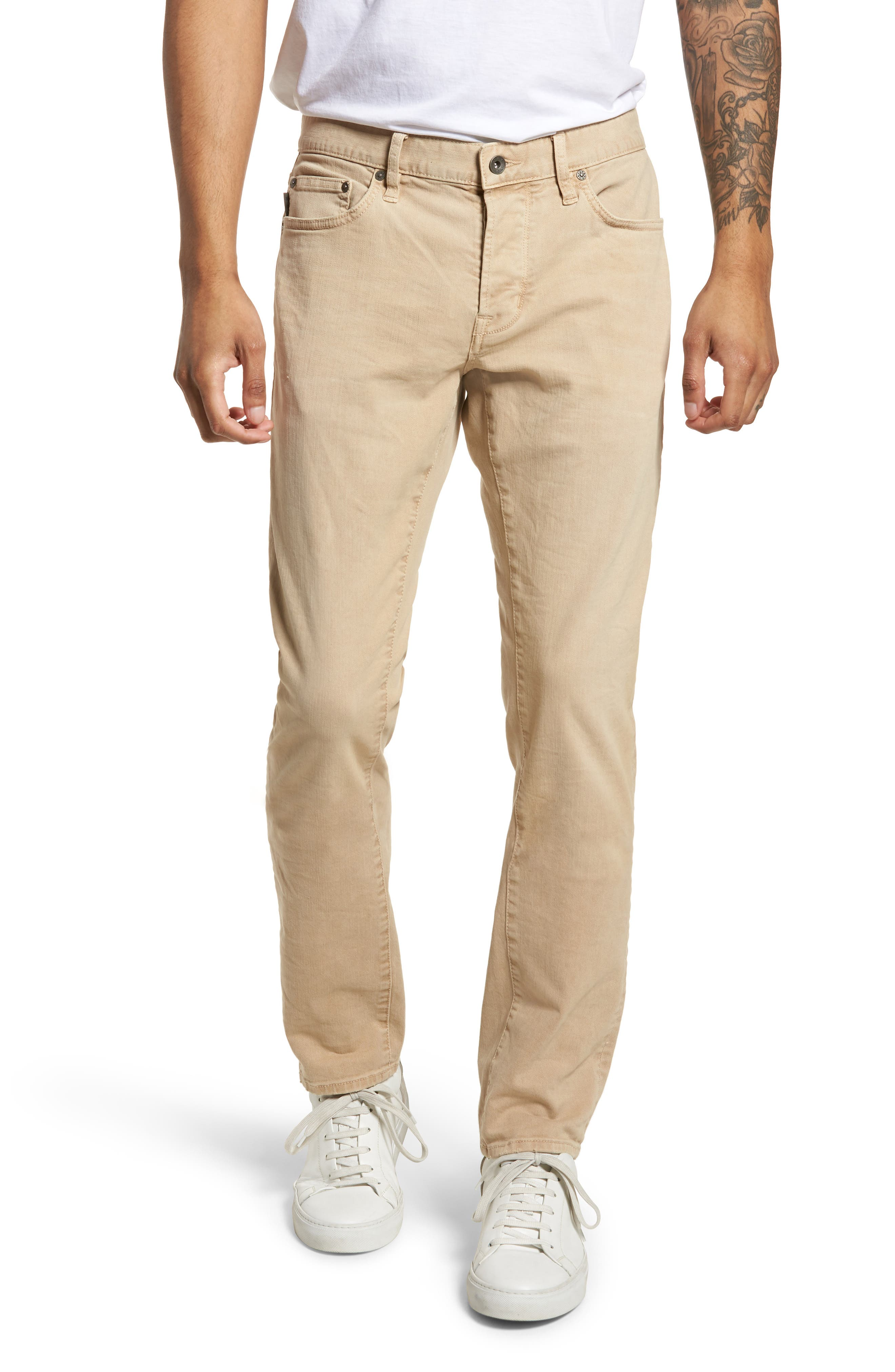 John Varvatos Star USA Wight Slim Fit Straight Leg Stretch Jeans,                         Main,                         color, Twine