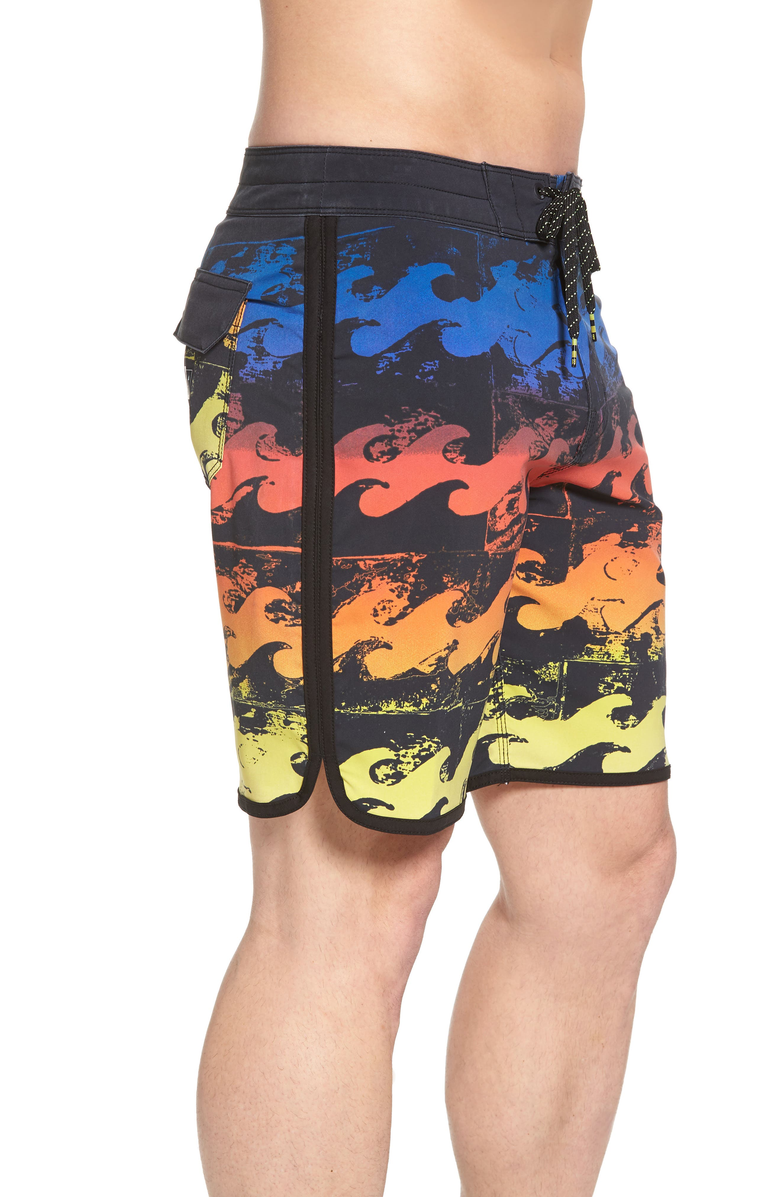 73 X Lineup Board Shorts,                             Alternate thumbnail 3, color,                             Neon