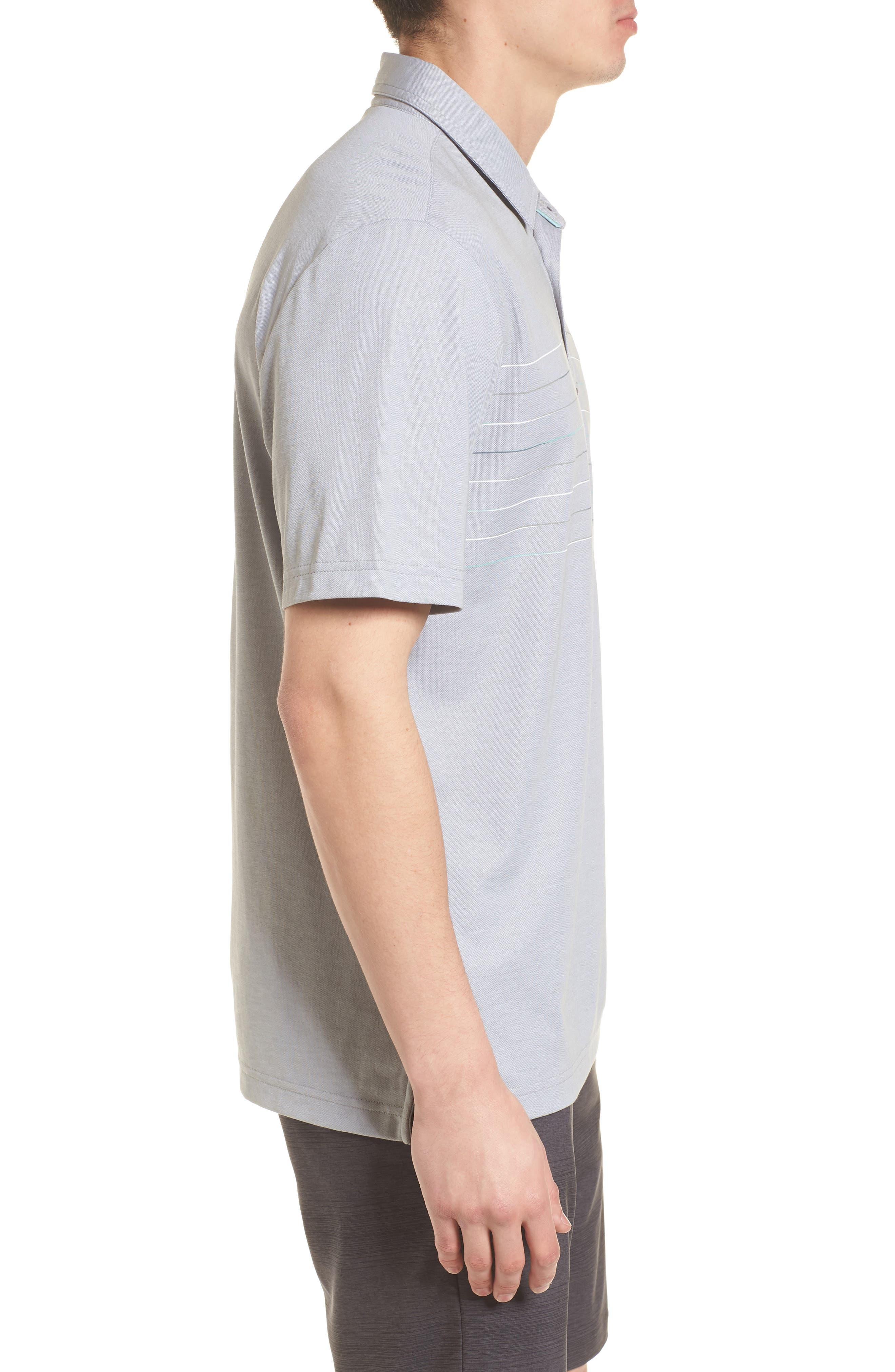 Good Good Polo Shirt,                             Alternate thumbnail 3, color,                             Heather Grey Monument