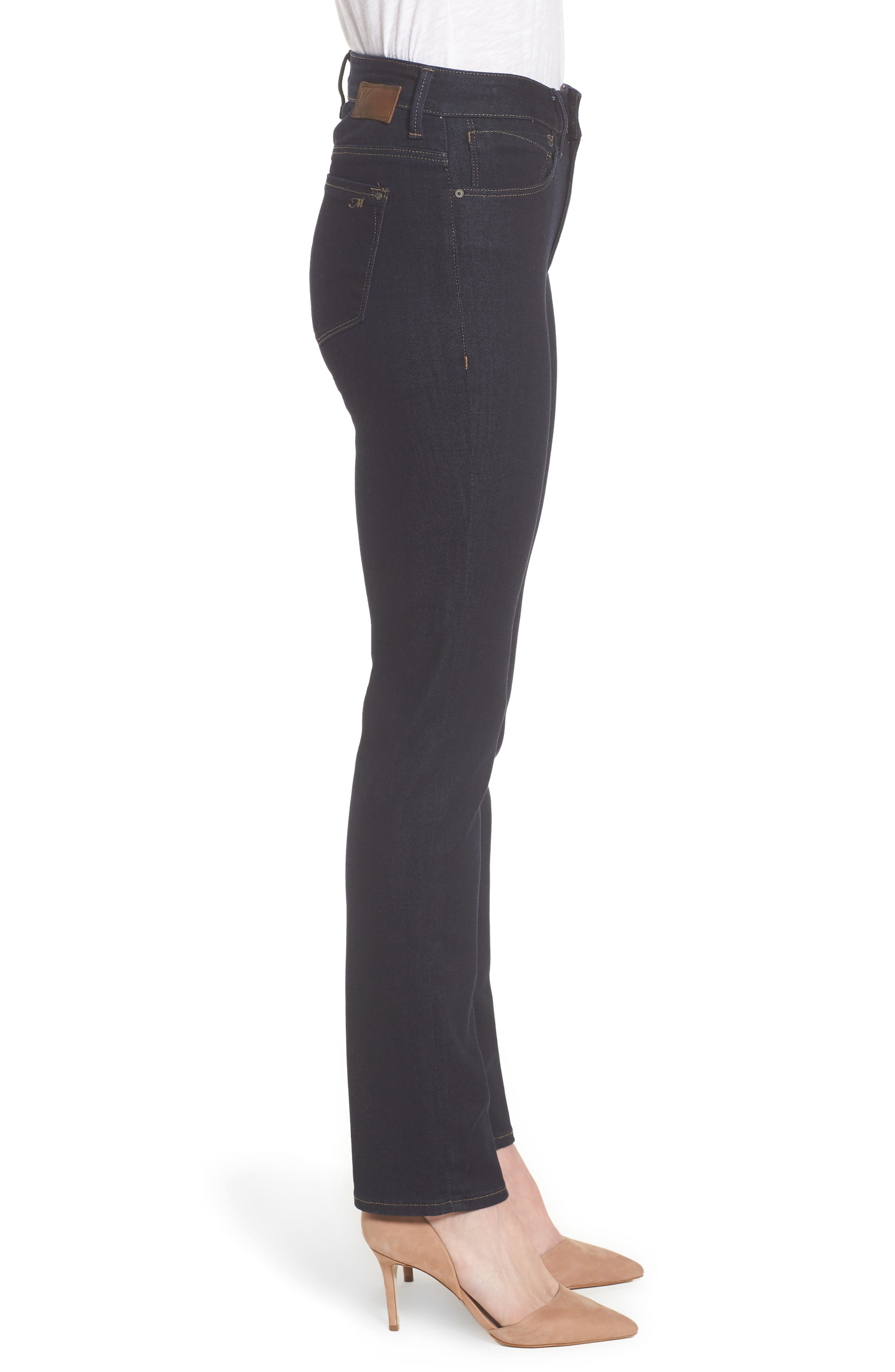 Kendra Supersoft Straight Leg Jeans,                             Alternate thumbnail 3, color,                             Rinse Super Soft