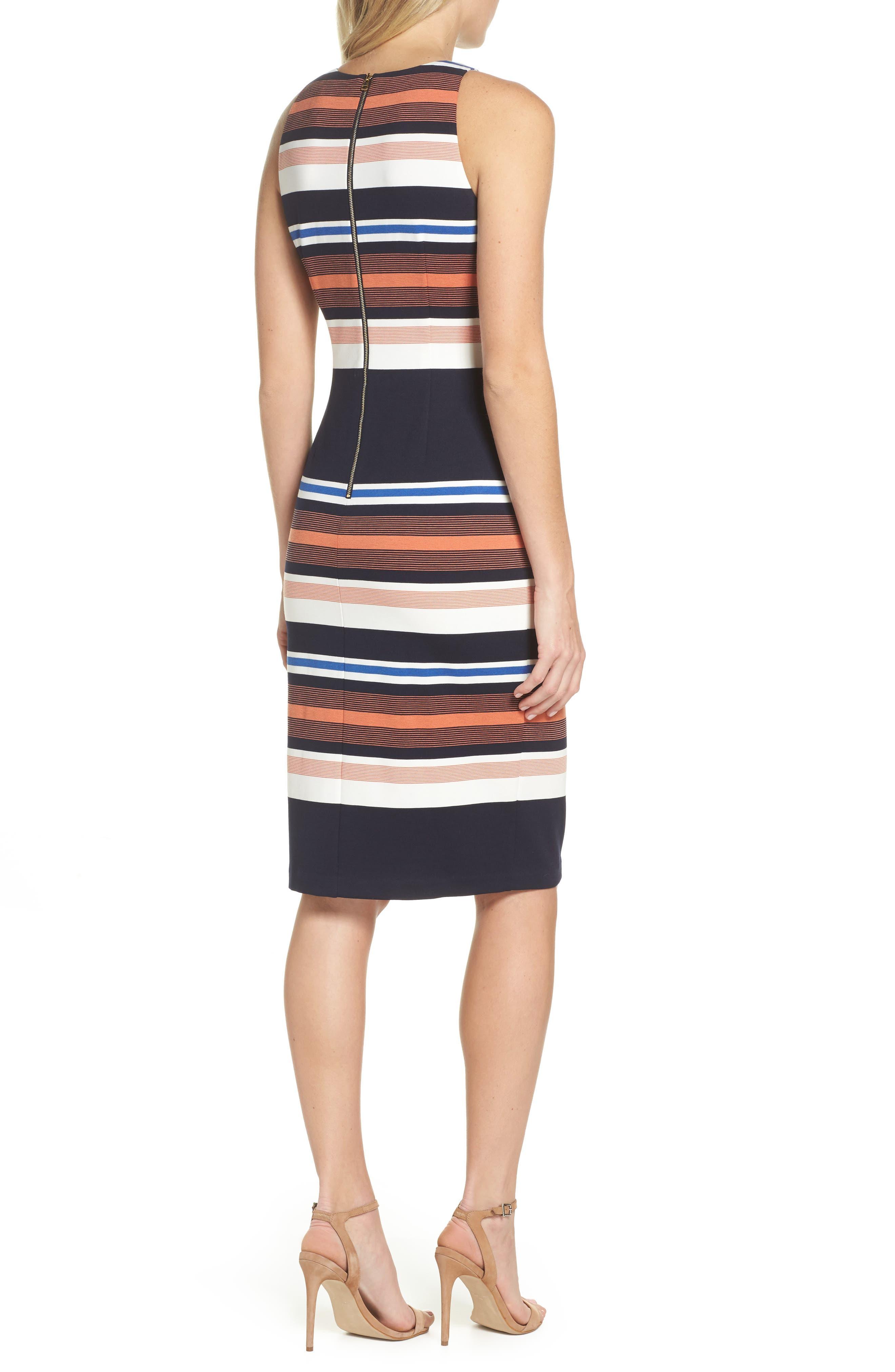 Alternate Image 2  - Adrianna Papell Stripe Body-Con Dress