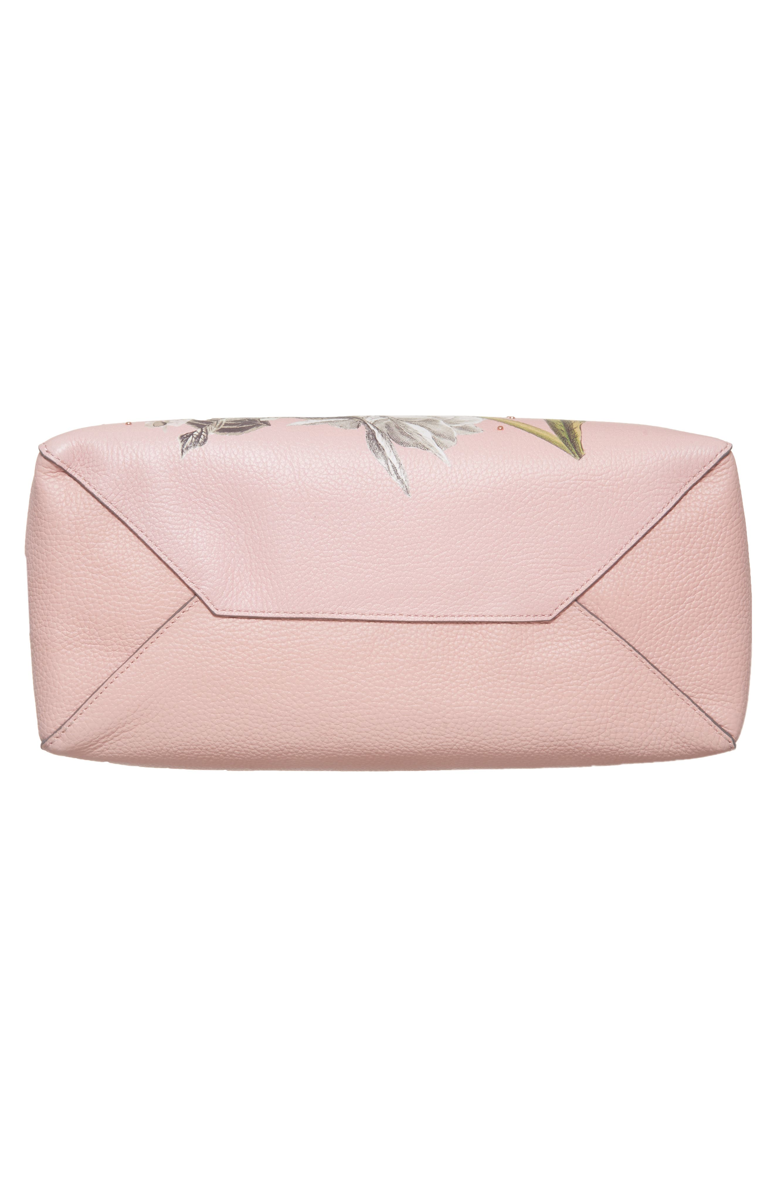 Palace Gardens Large Leather Tote,                             Alternate thumbnail 6, color,                             Dusky Pink