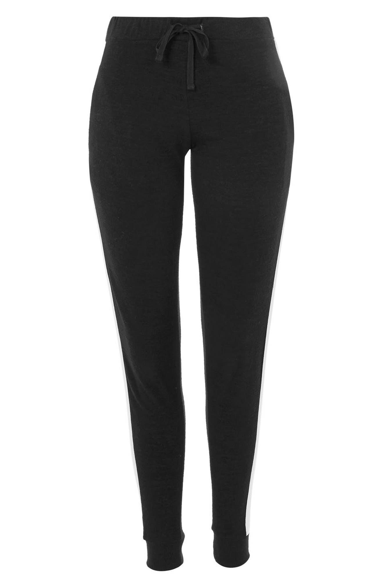 Side Stripe Jogger Pants,                             Alternate thumbnail 3, color,                             Black Multi