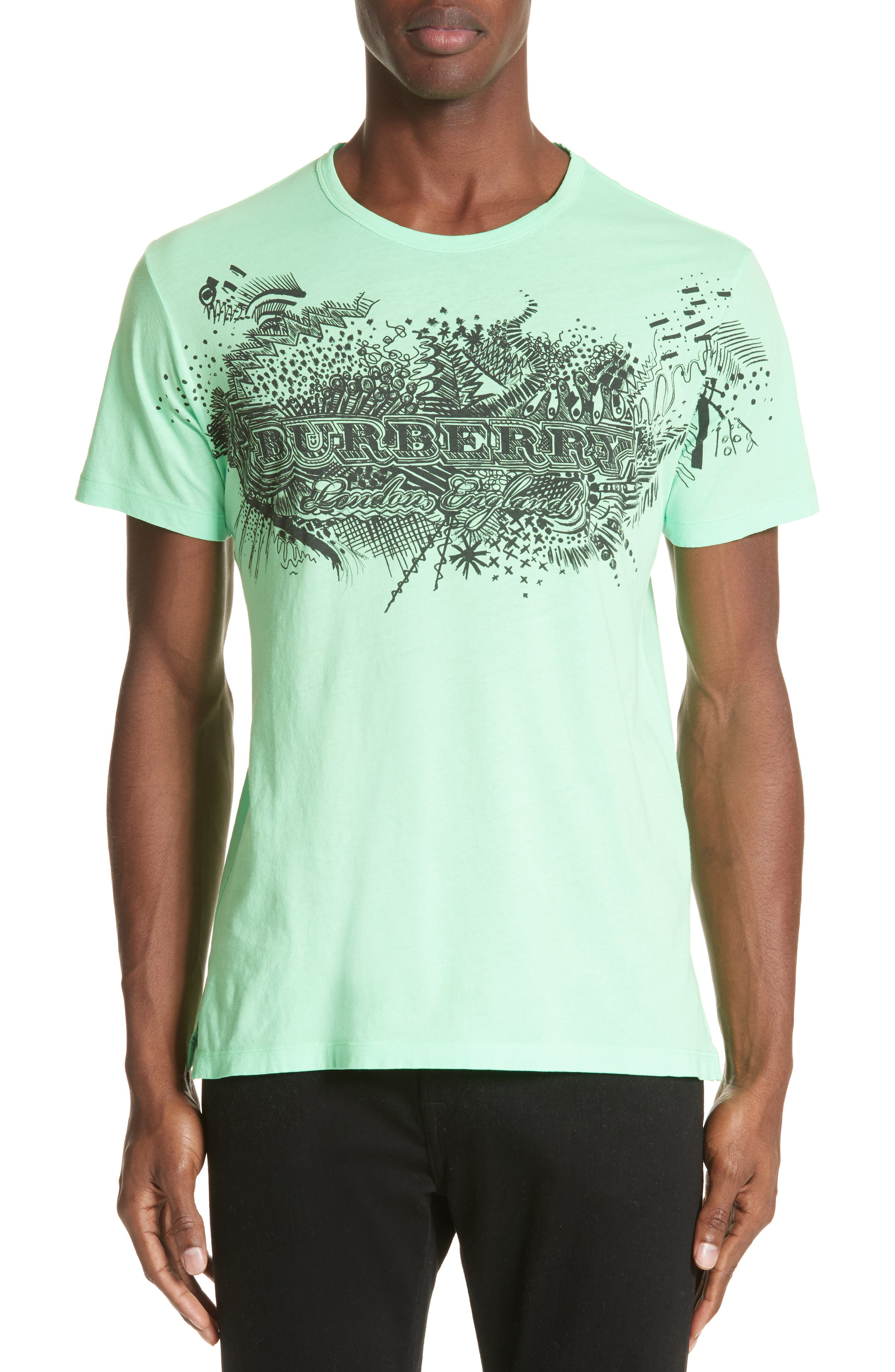 M Biles Standard Fit Graphic Tee,                         Main,                         color, Bright Apple Green