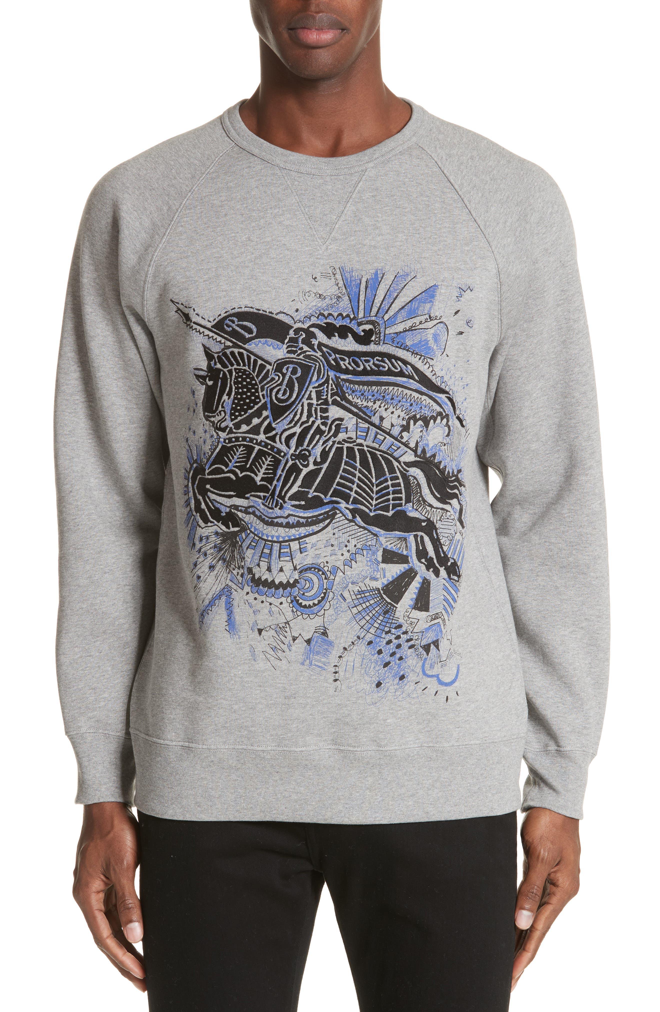 Kaneford Standard Fit Sweatshirt,                             Main thumbnail 1, color,                             Pale Grey Melange