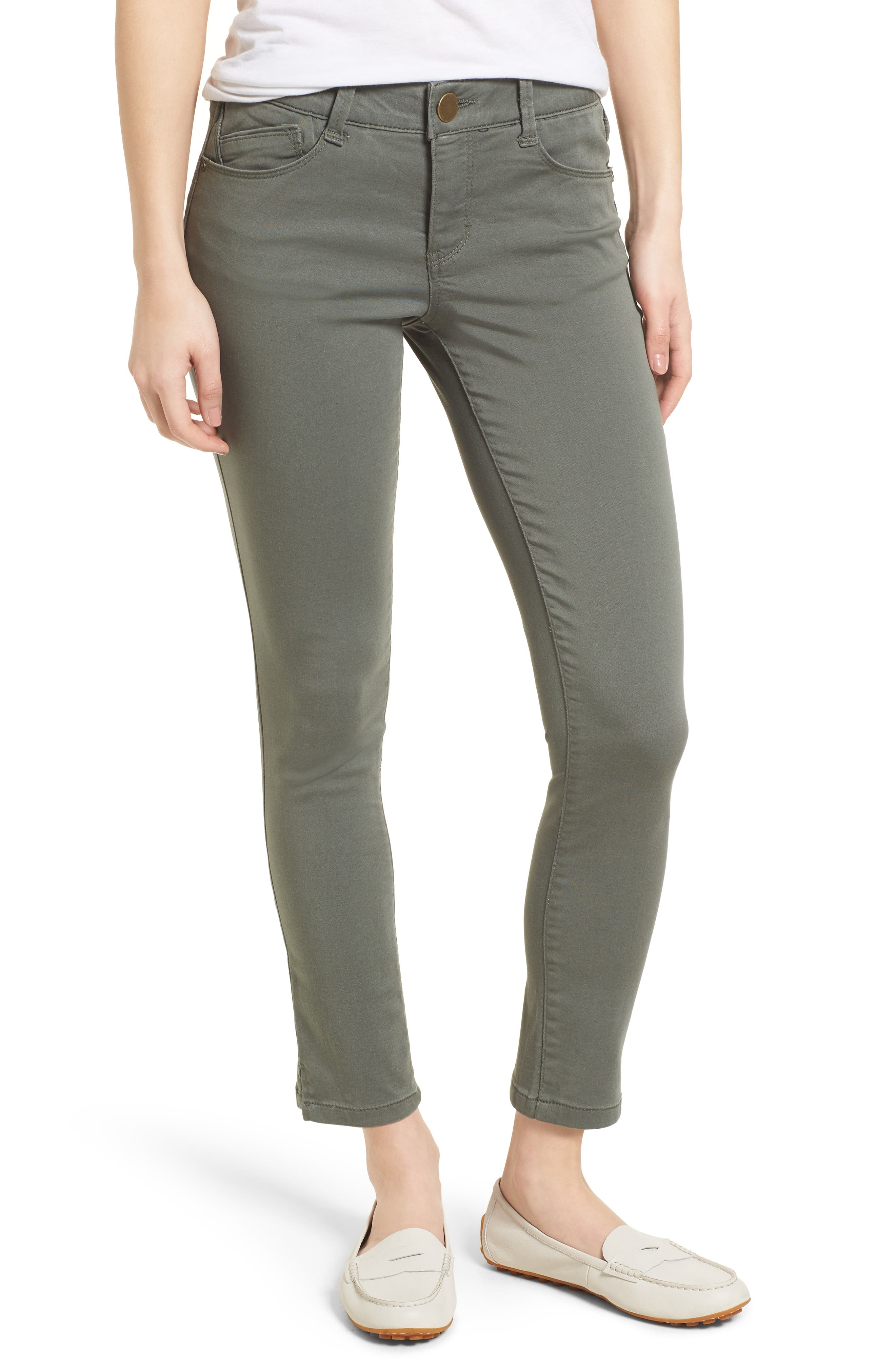 Ab-solution Ankle Skimmer Jeans,                         Main,                         color, Thyme