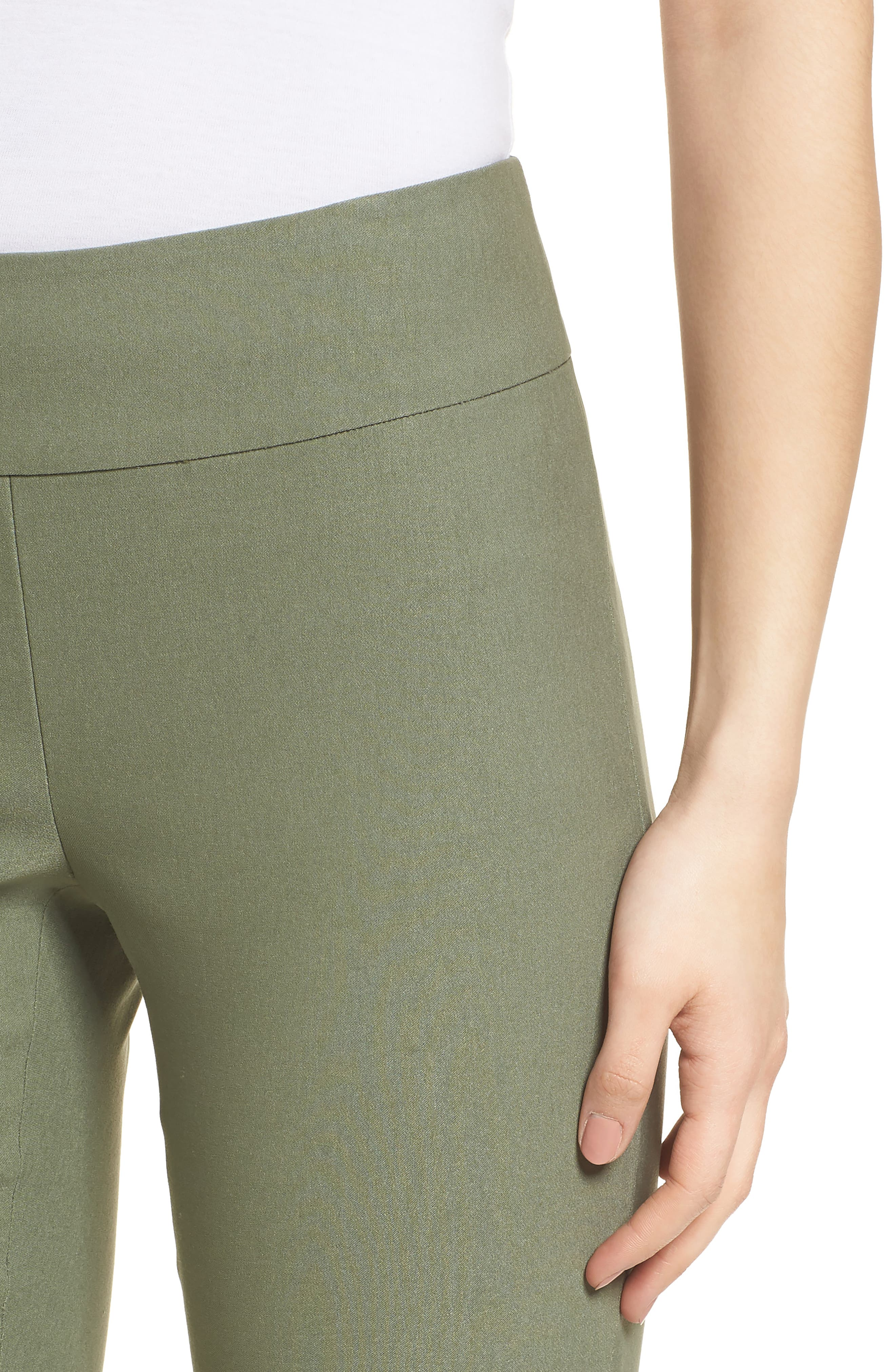 NIC + ZOE Wonderstretch Slim Pants,                             Alternate thumbnail 4, color,                             Spring Moss