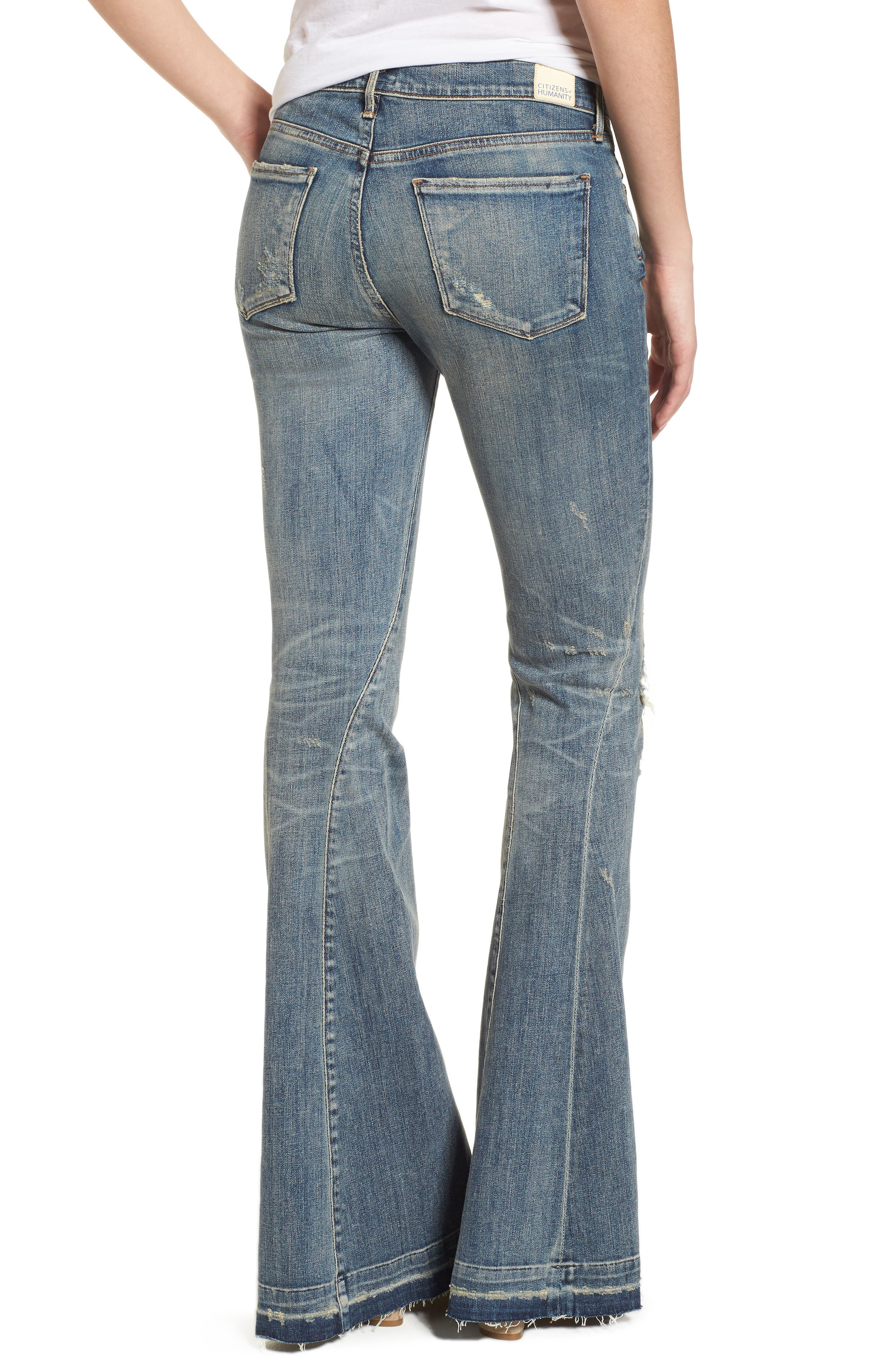 Charlie Flare Jeans,                             Alternate thumbnail 2, color,                             Outpost