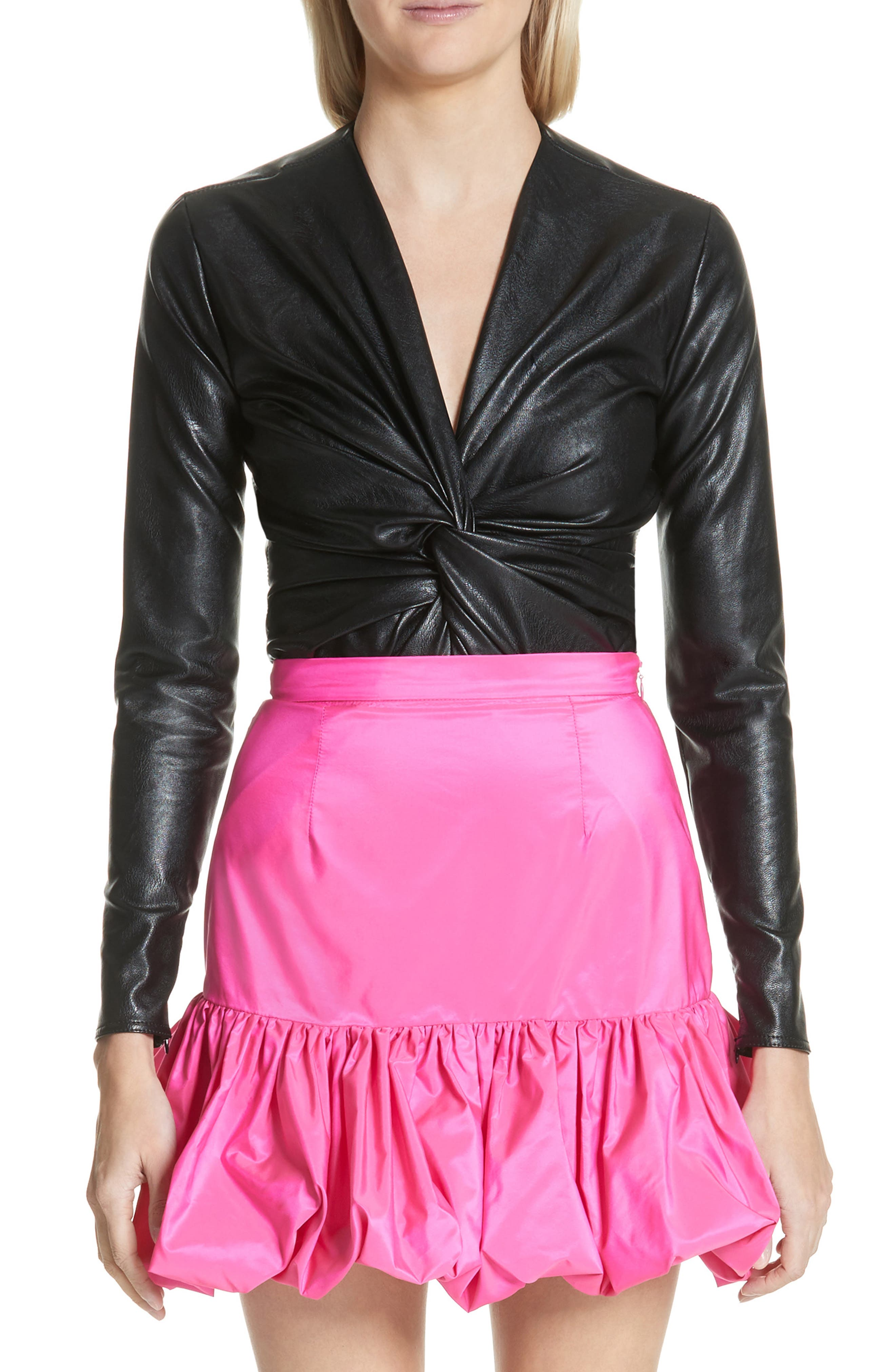 Stella McCartney Alter Faux Leather Bodysuit