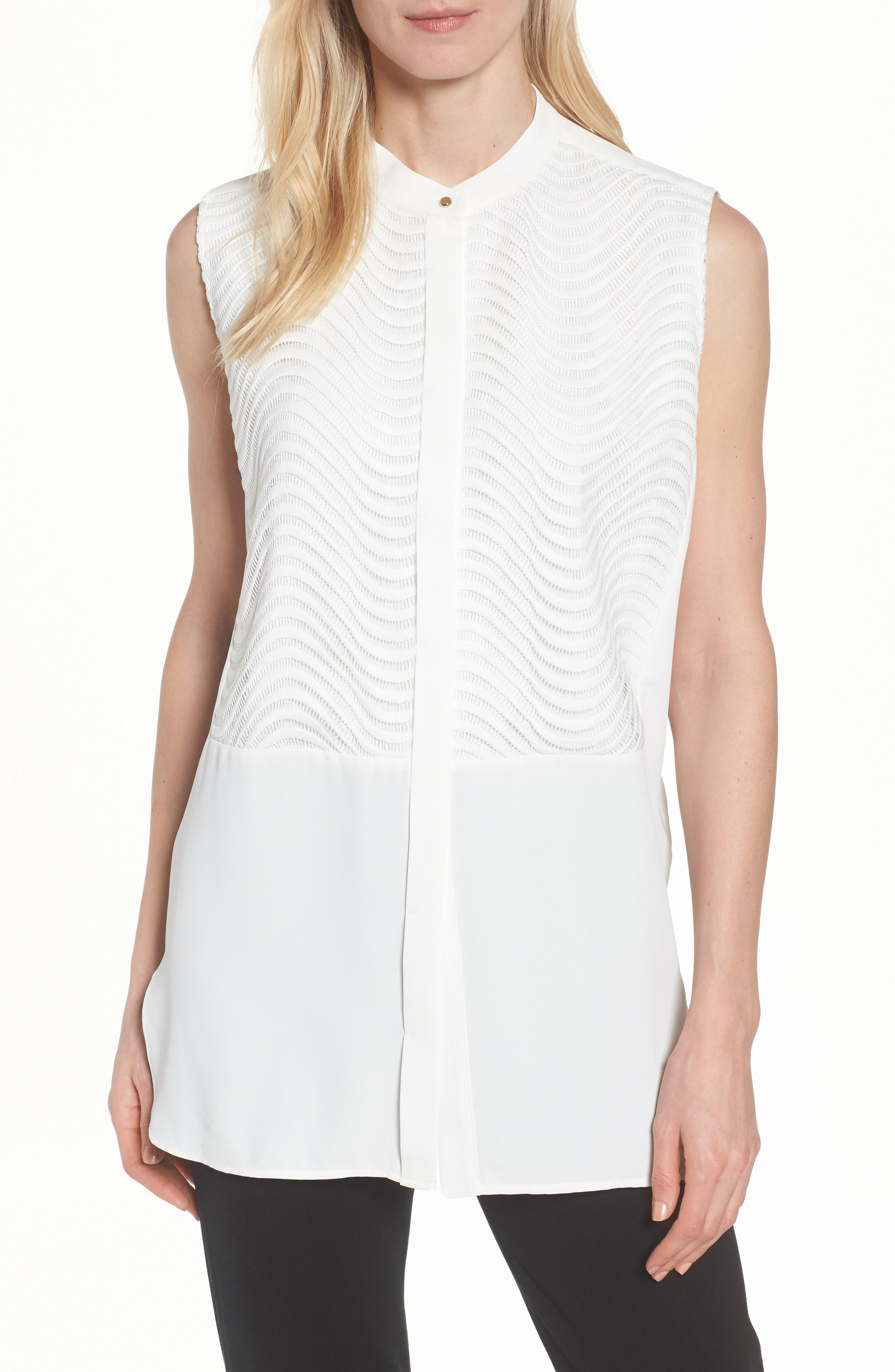 Tunic Blouse,                         Main,                         color, White