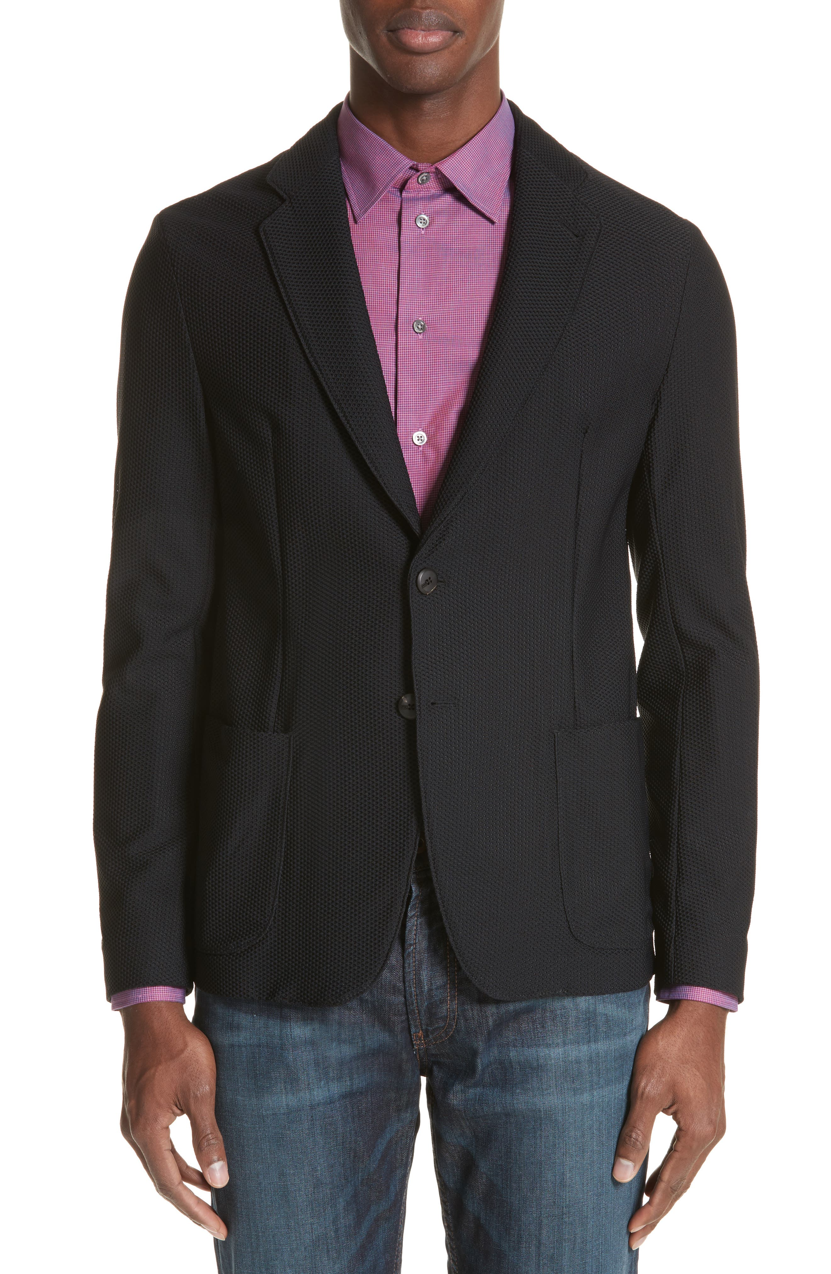 Armani Collezioni Regular Fit Stretch Blazer