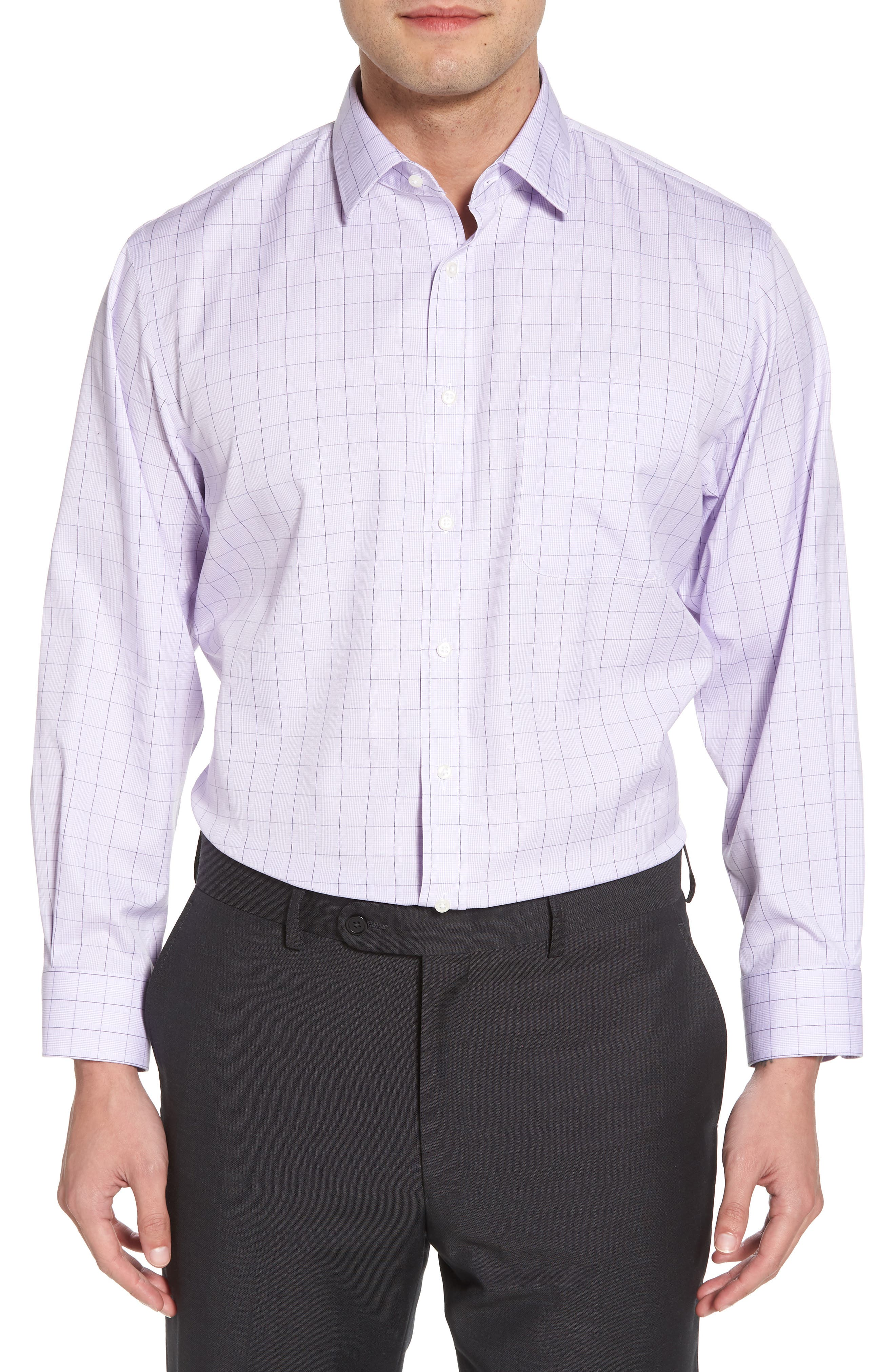 Nordstrom Men's Shop Smartcare™ Traditional Fit Windowpane Dress Shirt